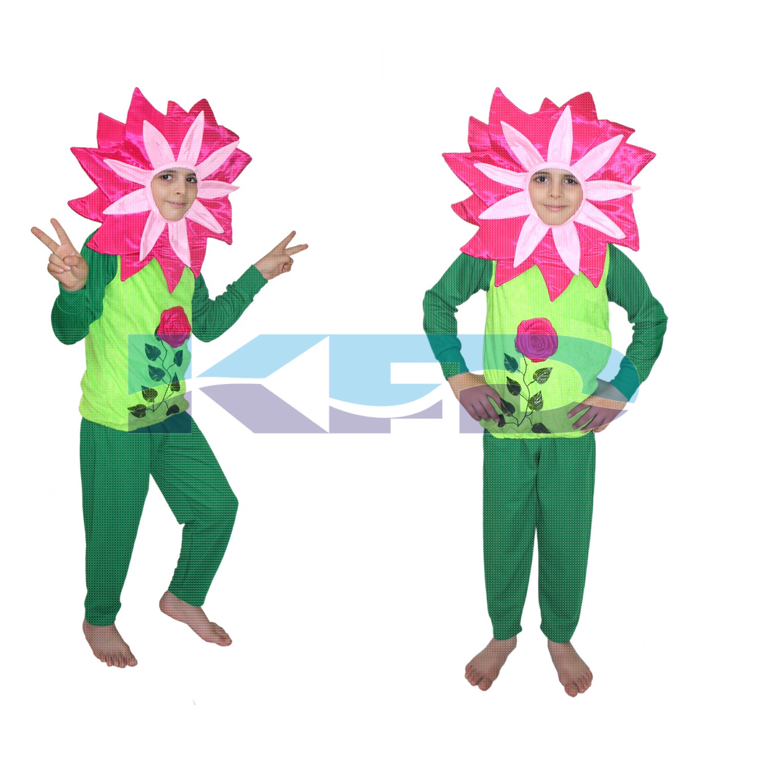 Mazanta Flower with track suit Costume,Rose Costume,Nature Costume For School Annual function/Theme Party/Competition/Stage Shows/Birthday Party Dress