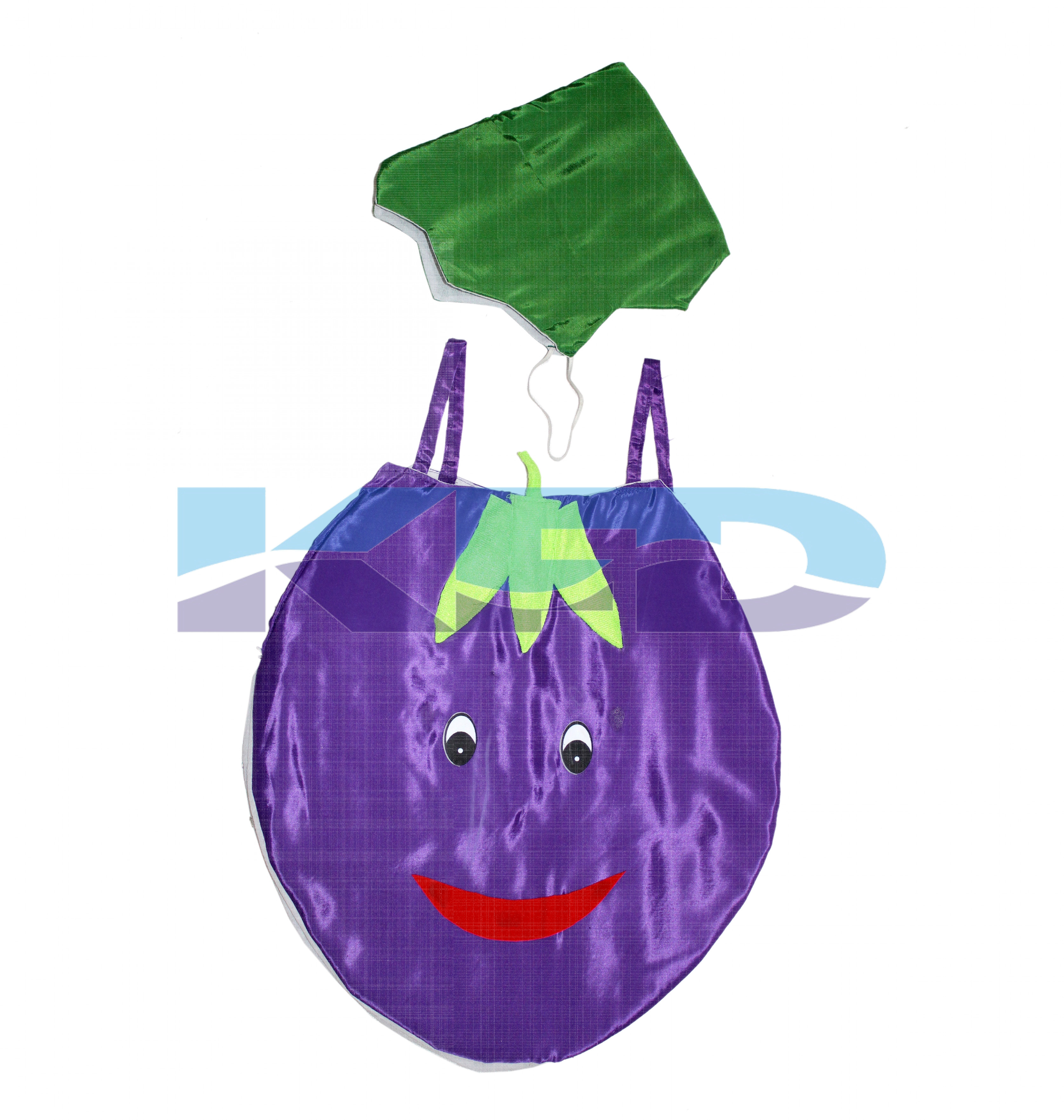 Brinjal Vegetables Costume only cutout with Cap for Annual function/Theme Party/Competition/Stage Shows/Birthday Party Dress
