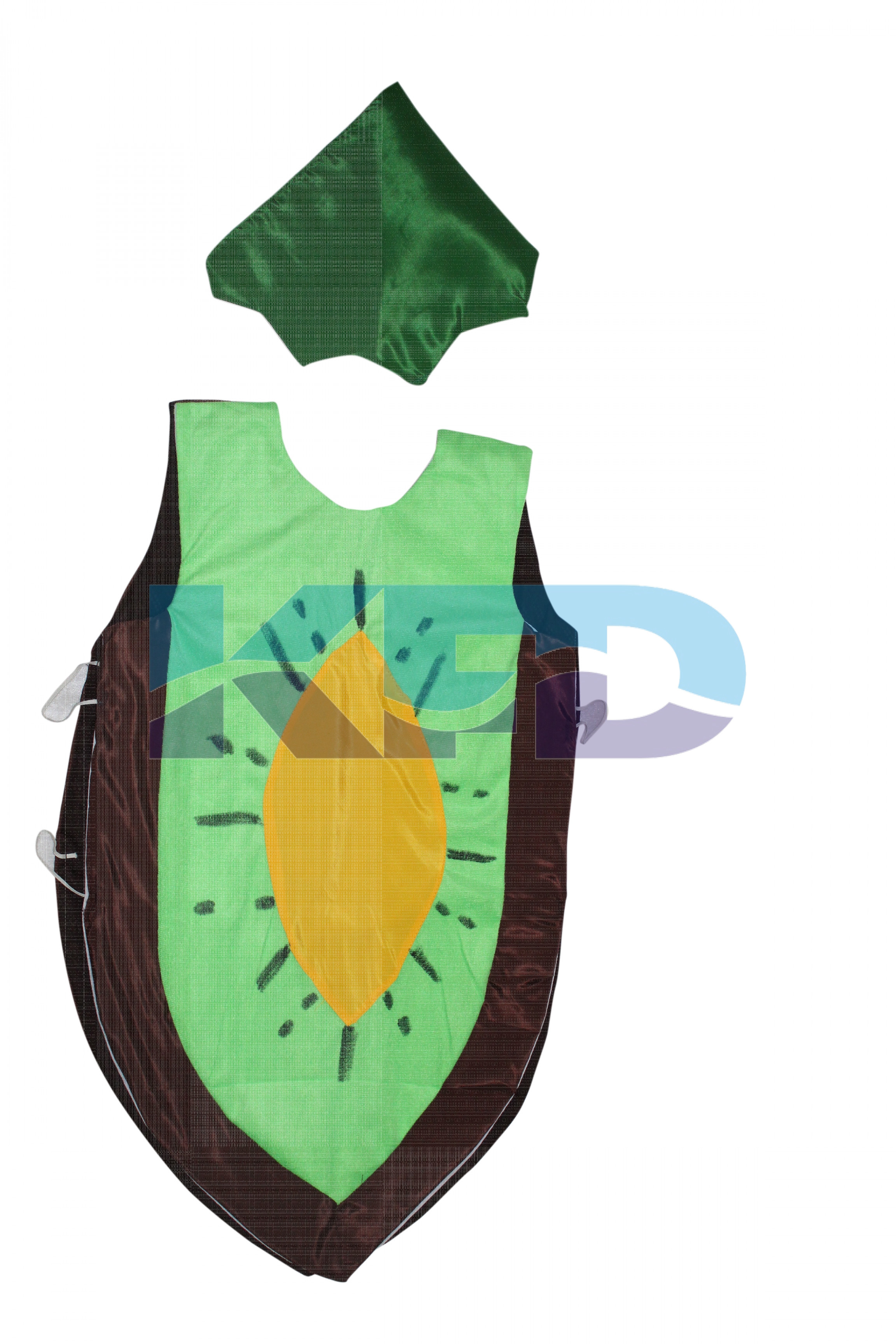 Kiwi Fruits Costume only cutout with Cap for Annual function/Theme Party/Competition/Stage Shows/Birthday Party Dress