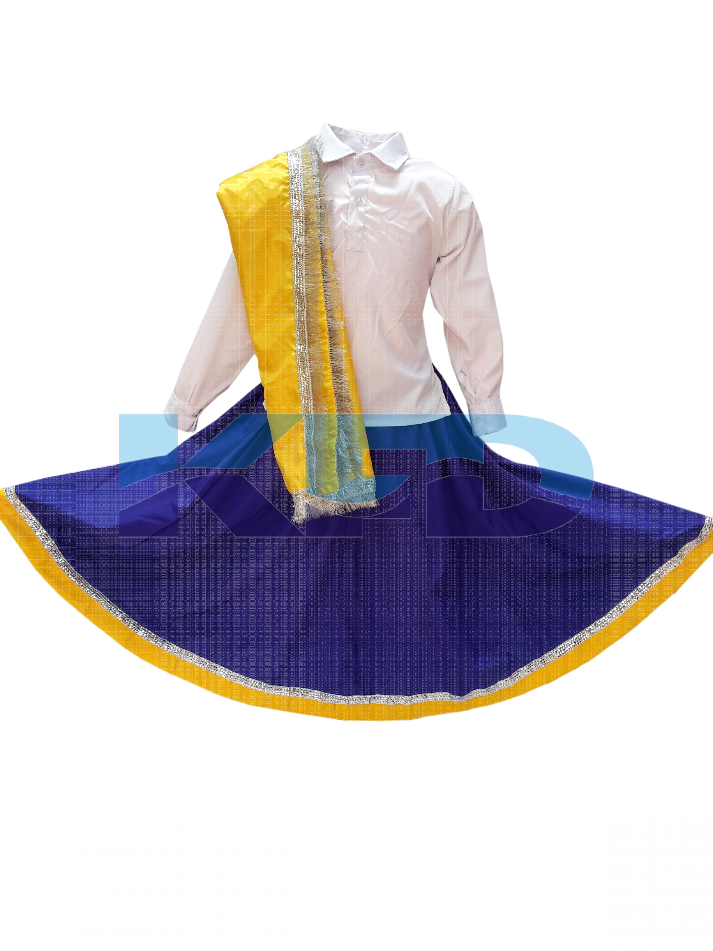 Haryanvi Girl fancy dress for kids,Indian State Traditional Wear Costume for Annual function/Theme Party/Competition/Stage Shows/Birthday Party Dress
