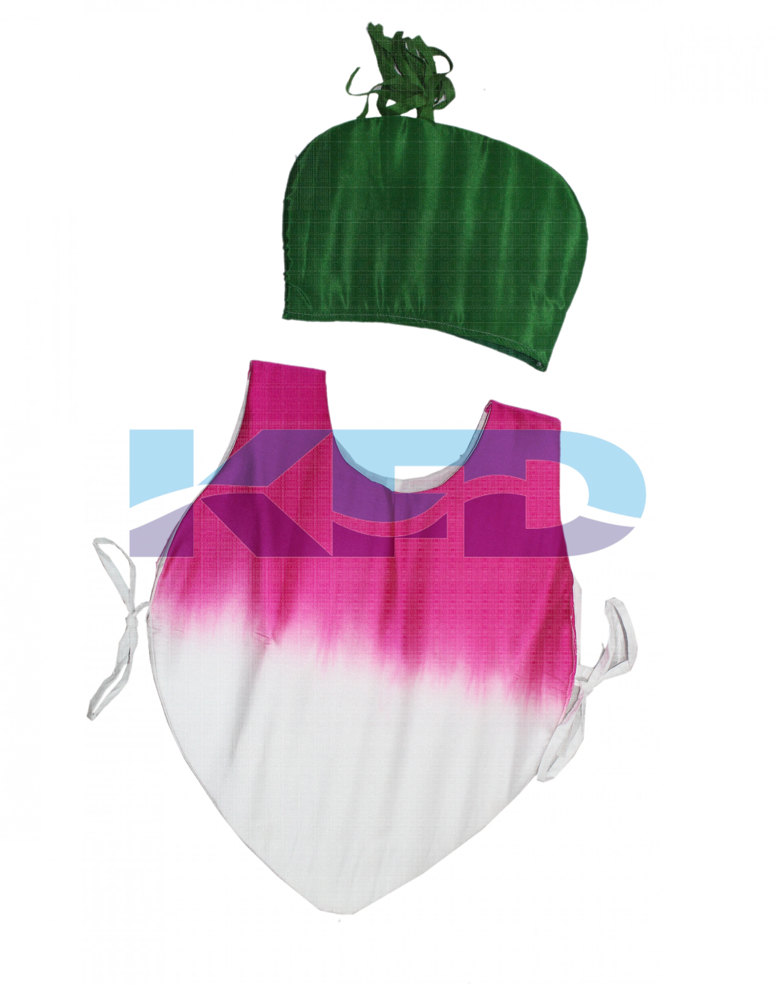 Turnip Vegetables Costume only cutout with Cap for Annual function/Theme Party/Competition/Stage Shows/Birthday Party Dress