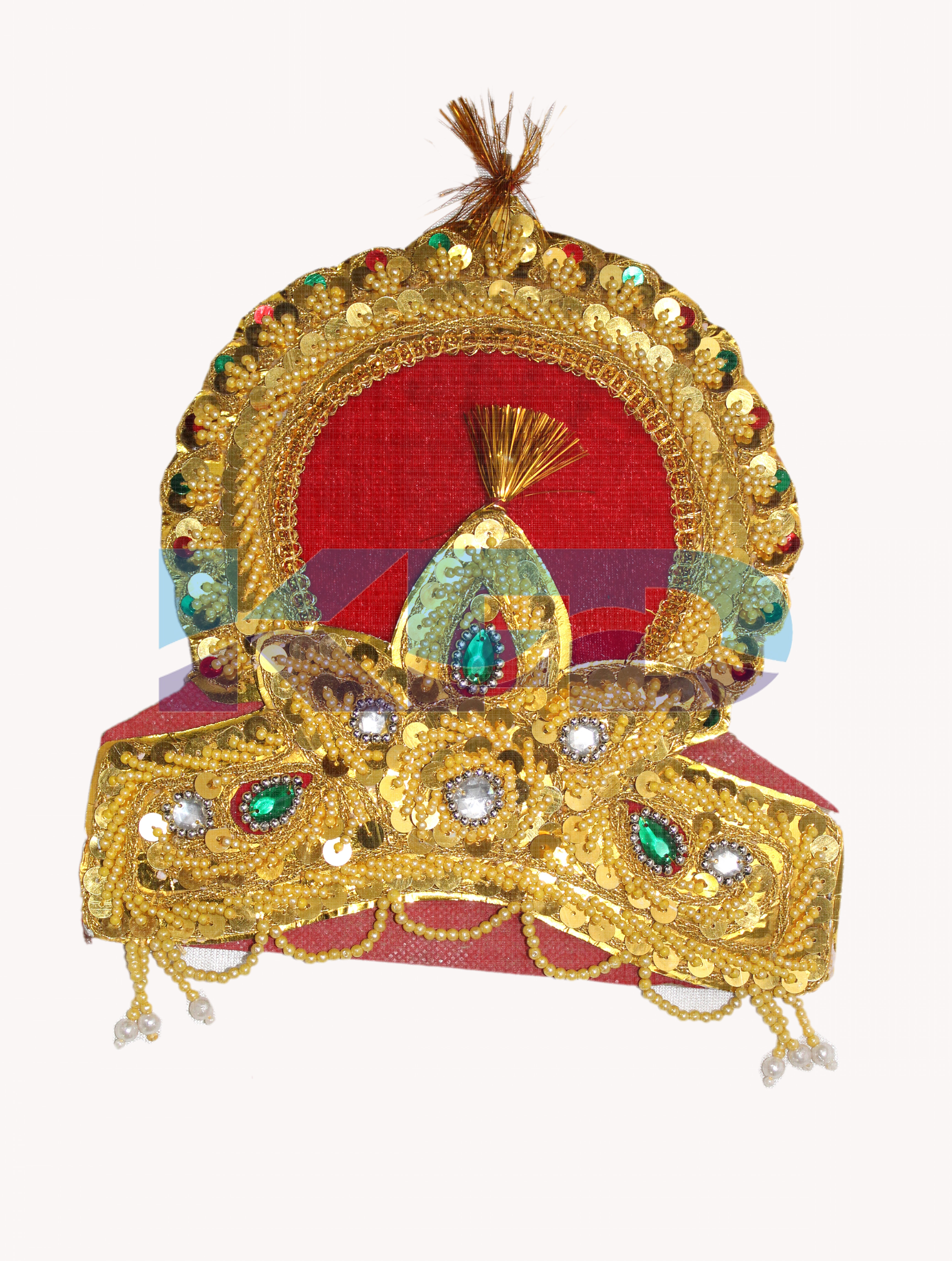 Double Mukut For Mythological Character/Janmashtami/Dussehra/Diwali/School annual function