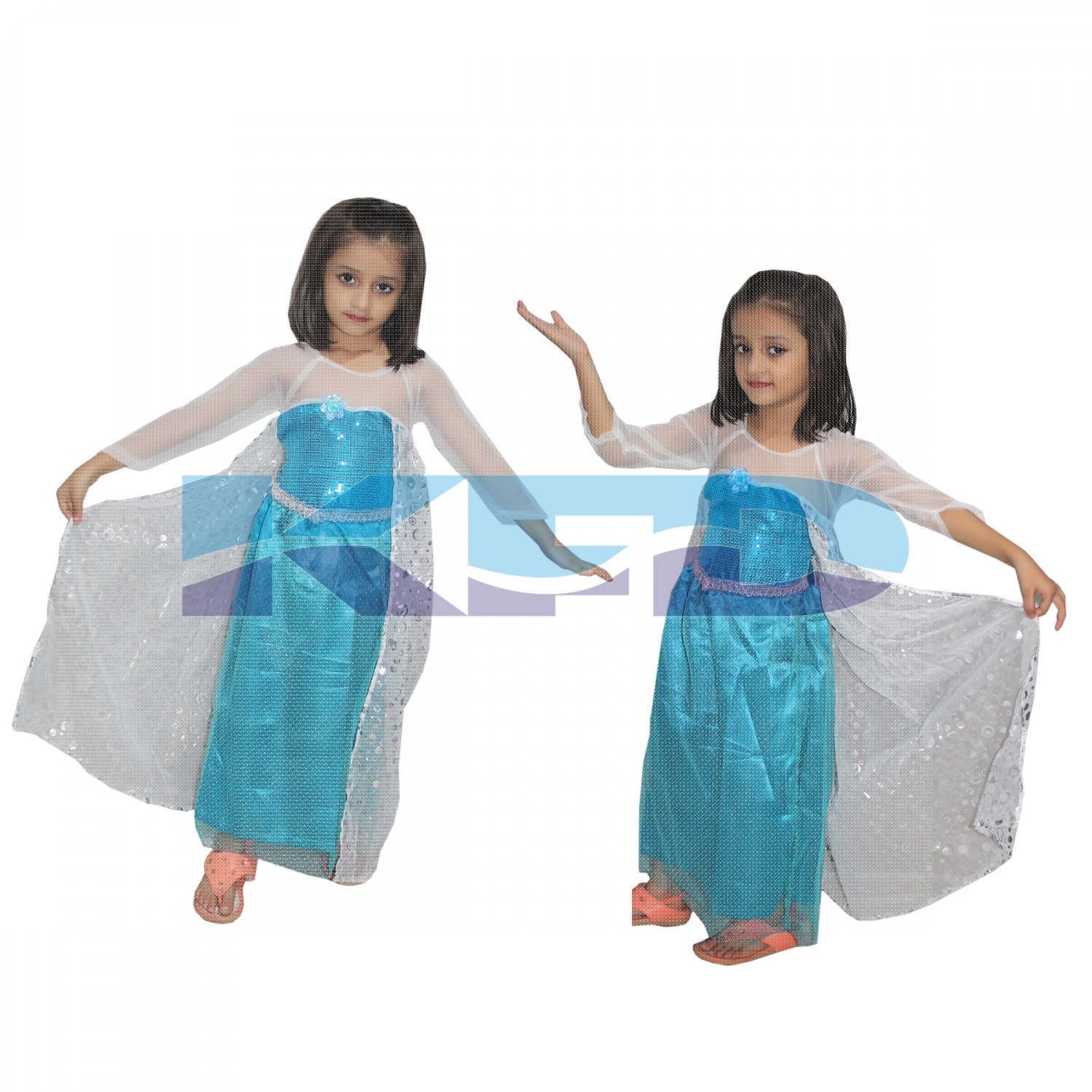Princes Elsa Western Costume For School Annual function/Theme Party/Competition/Stage Shows/Birthday Party Dress