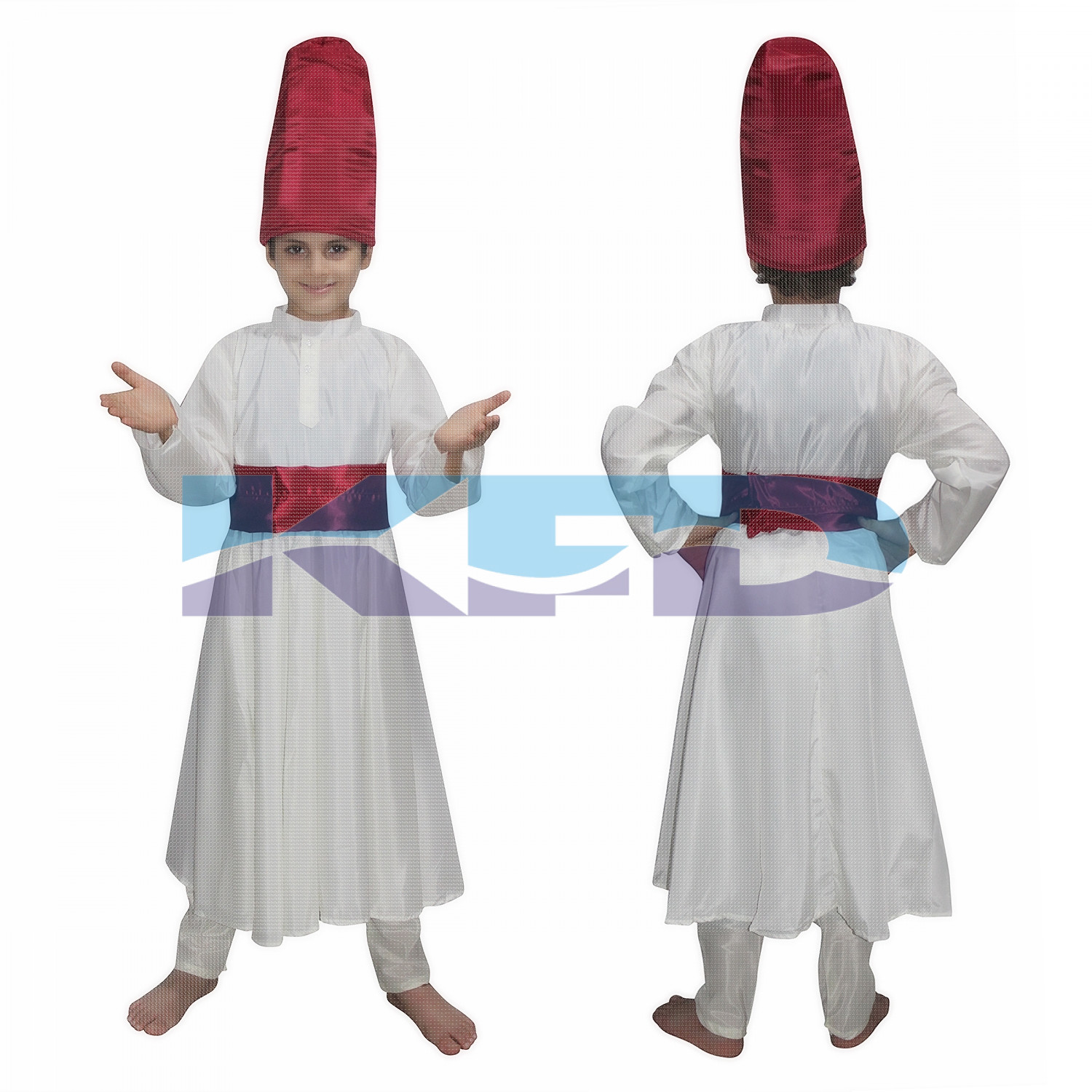 Sufi Gown Indian State/Dance Costume For School Annual function/Theme Party/Competition/Stage Shows/Birthday Party Dress
