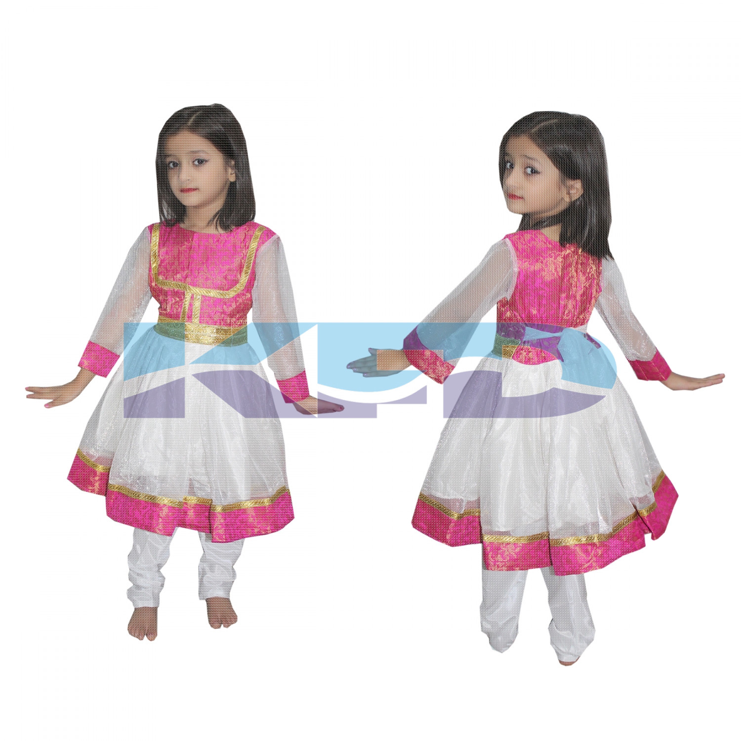 Anarkali Indian State/Dance Costume For School Annual function/Theme Party/Competition/Stage Shows/Birthday Party Dress