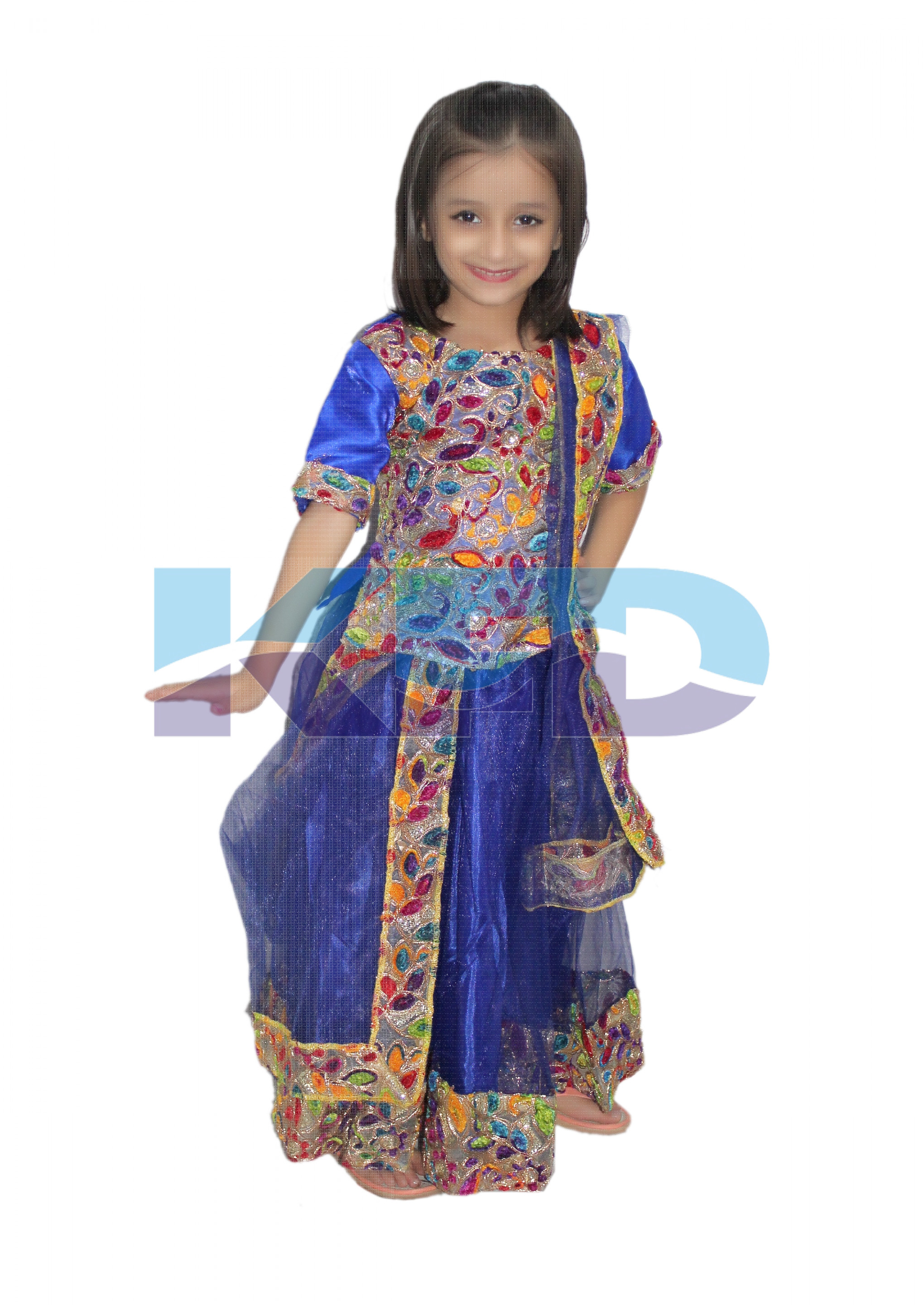Radha/Gujrati Lehenga Costume Of Indian State Traditional Wear For School Annual function/Theme Party/Competition/Stage Shows/Birthday Party Dress