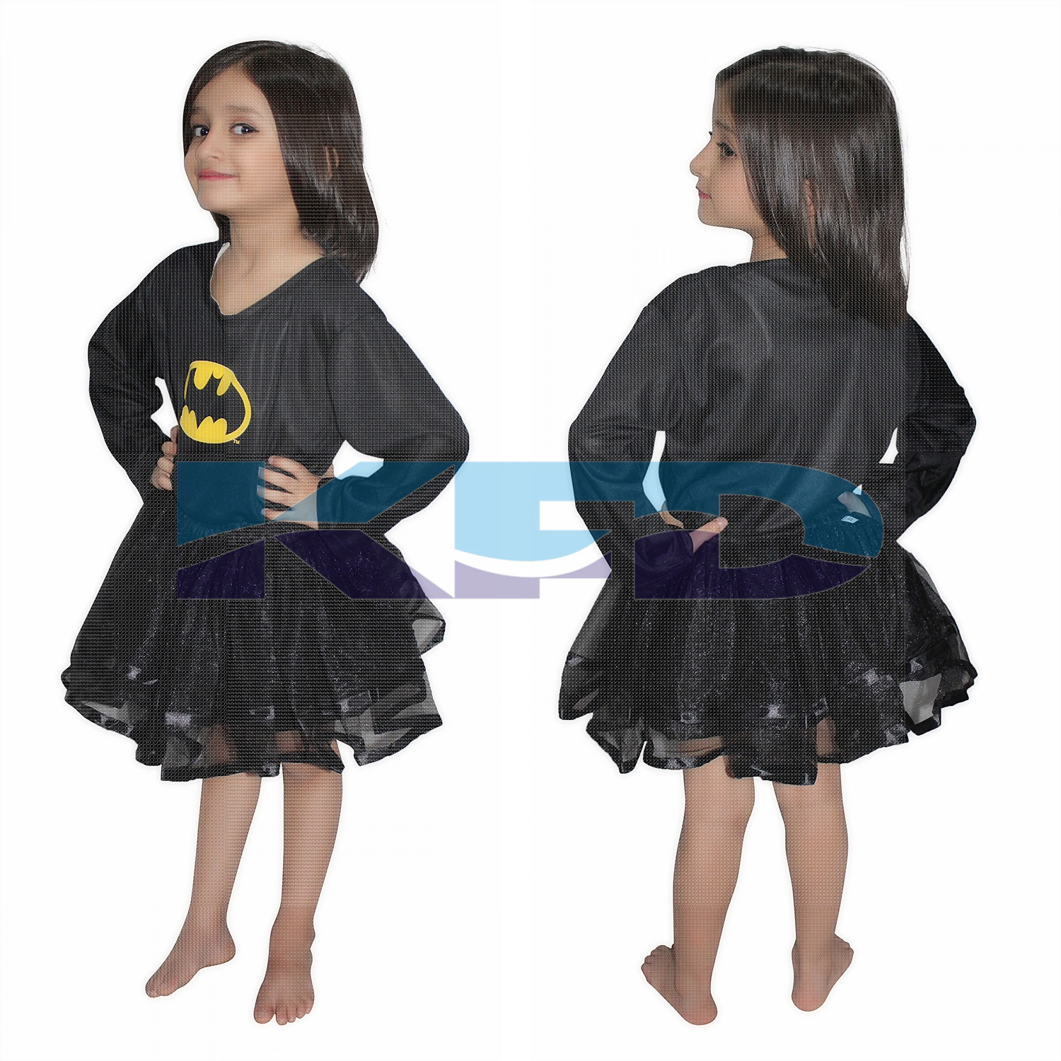 Bat Girl Super Hero Costume For Girl,CosPlay Costume,California Costume School Annual function/Theme Party/Competition/Stage Shows/Birthday Party Dress