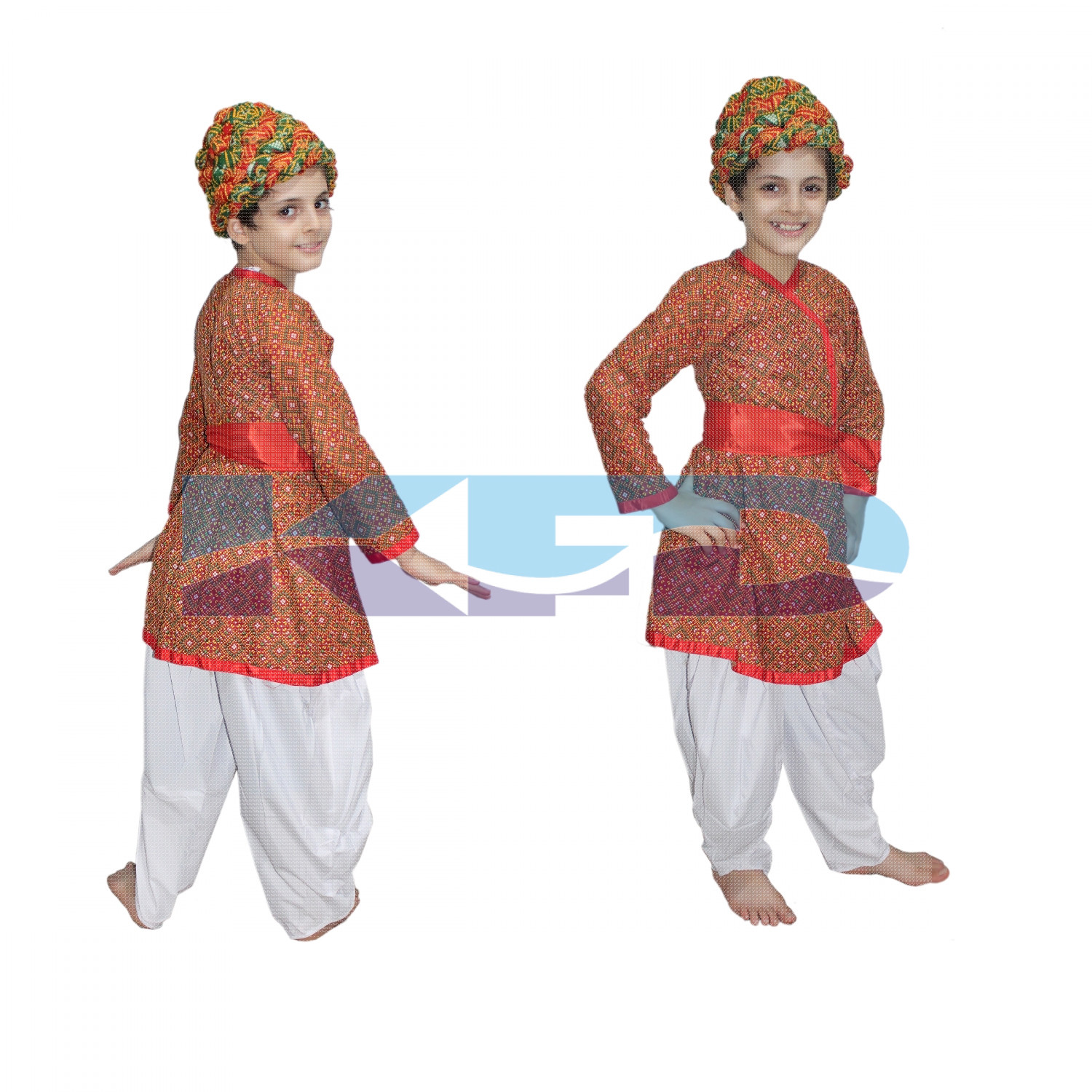 Rajasthani Boy Red Color fancy dress for kids,Indian State Traditional Wear Costume for Annual function/Theme party/Competition/Stage Shows Dress