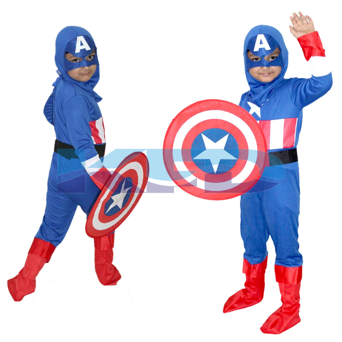 Captain America/Brave American Little Soldier Super Hero costume,CosPlay Costume,School Annual function/Theme Party/Competition/Stage Shows Dress(Full Size)