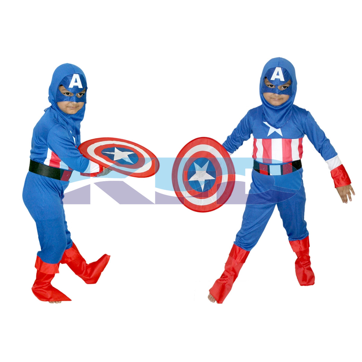 Captain America brave Little Soldier Super Hero Cosplay Costume for kids 3 to 8 years