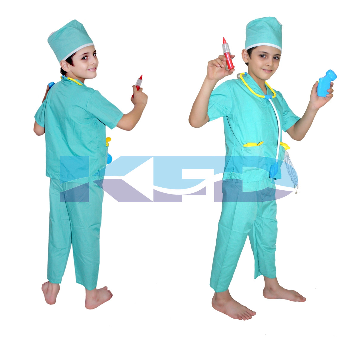 Surgeon/Doctor Costume,Our Helper Costume for School Annual function/Theme Party/Competition/Stage Shows/Birthday Party Dress