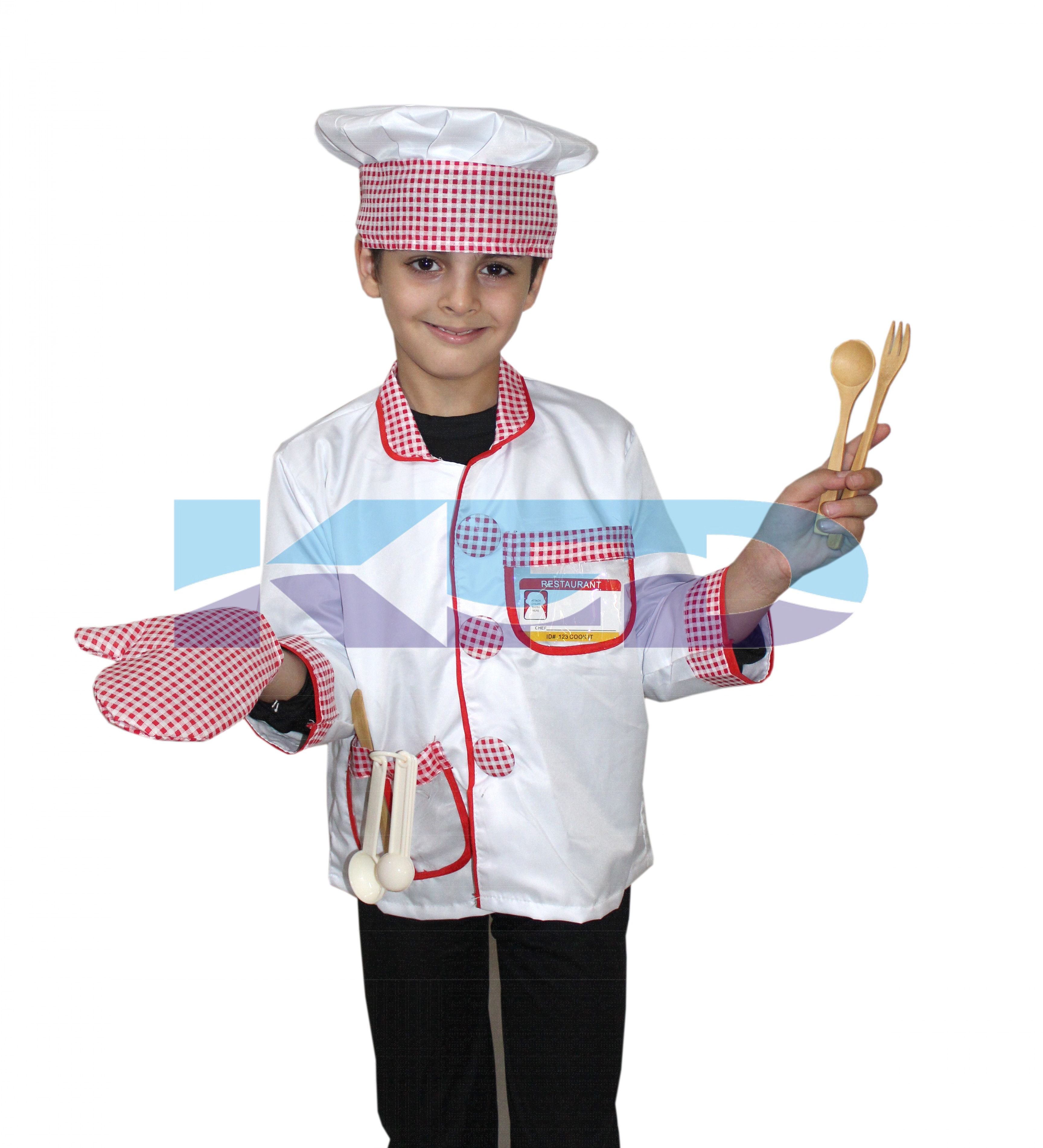 Chef Costume,Our Helper Costume for School Annual function/Theme Party/Competition/Stage Shows/Birthday Party Dress