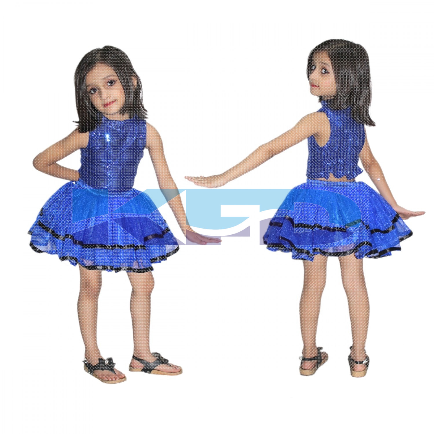 Tu Tu Skirt Blue Costume,Western Costume For School Annual function/Theme Party/Competition/Stage Shows/Birthday Party Dress