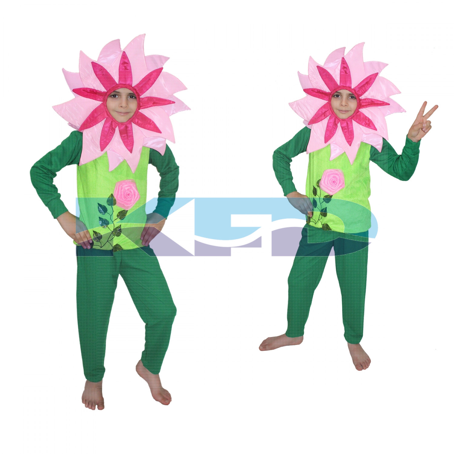 Pink Flower Costume,Rose Costume,Nature Costume For School Annual function/Theme Party/Competition/Stage Shows/Birthday Party Dress
