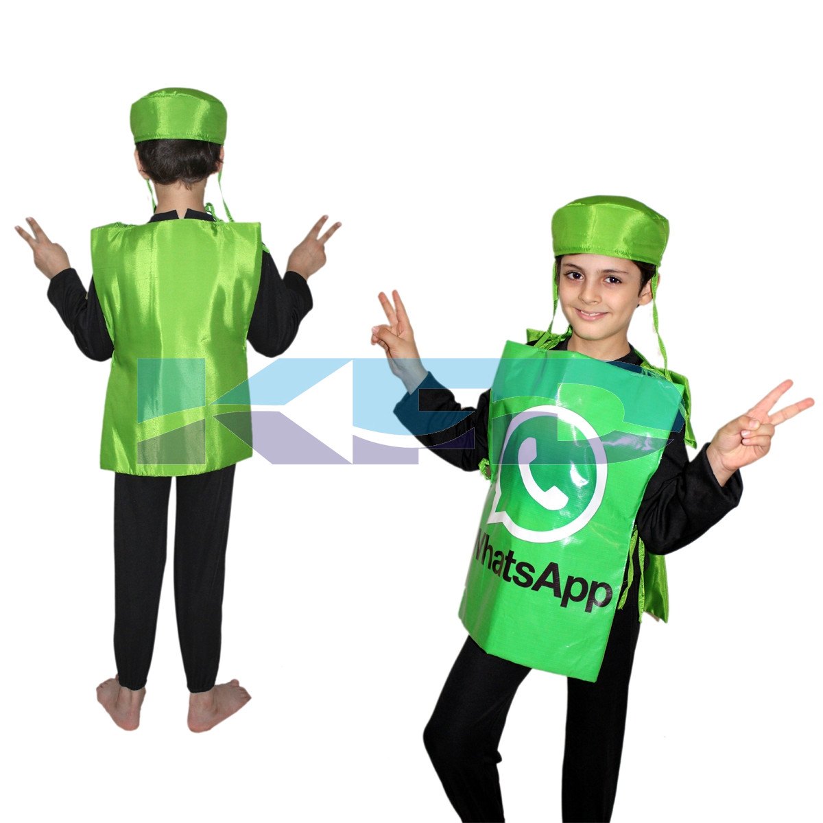 WhatsApp Social Networking Application Costume,Object Costume for School Annual function/Theme Party/Competition/Stage Shows/Birthday Party Dress