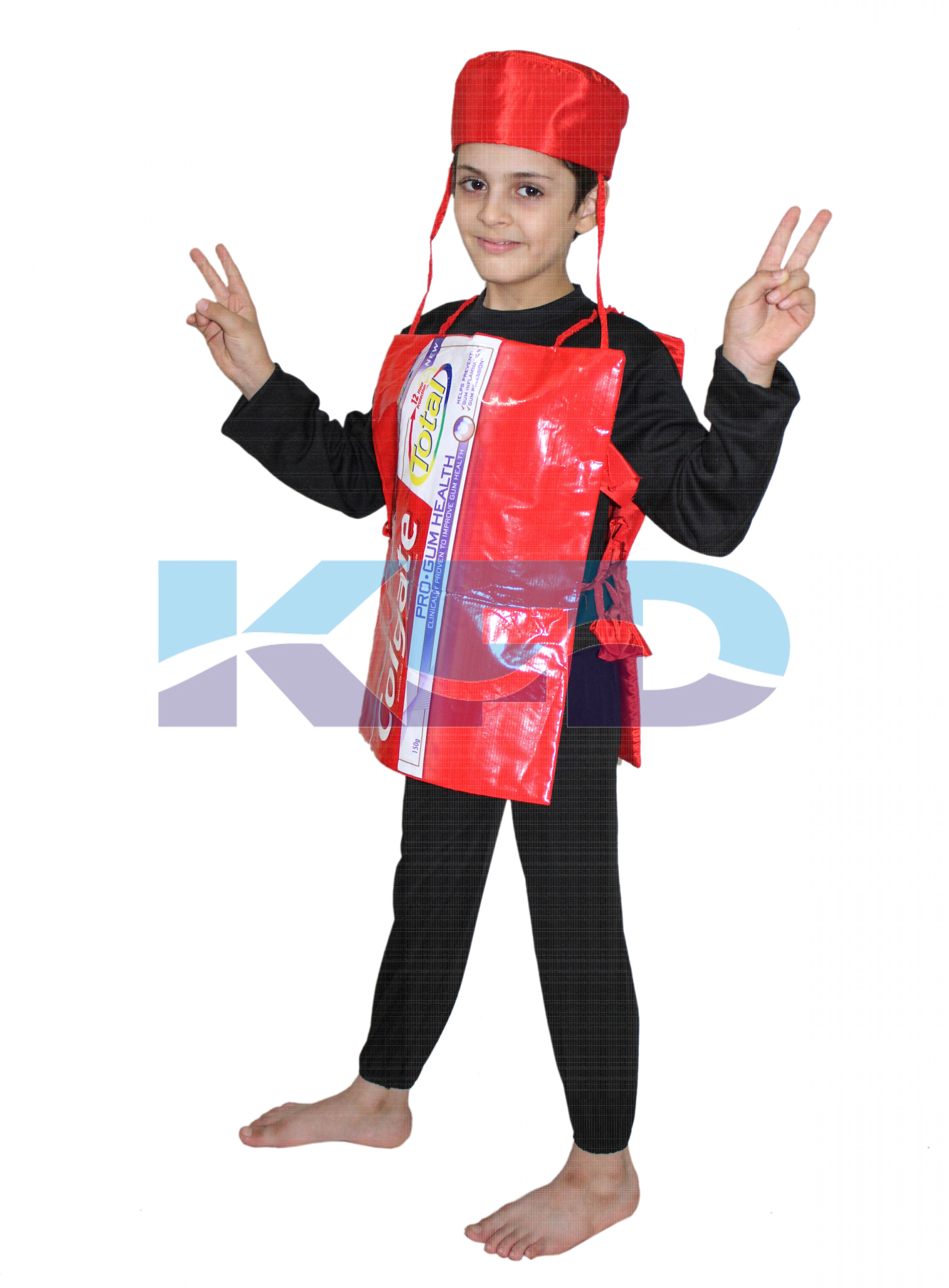 Colgate Toothpaste Costume,Object Costume for School Annual function/Theme Party/Competition/Stage Shows/Birthday Party Dress