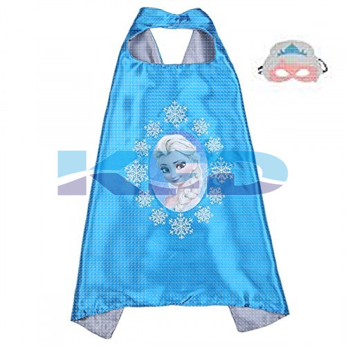 Elsa Robe For Kids/California Costume For kids/Superhero Robe For kids/For Kids Annual function/Theme Party/Competition/Stage Shows/Birthday Party Dress