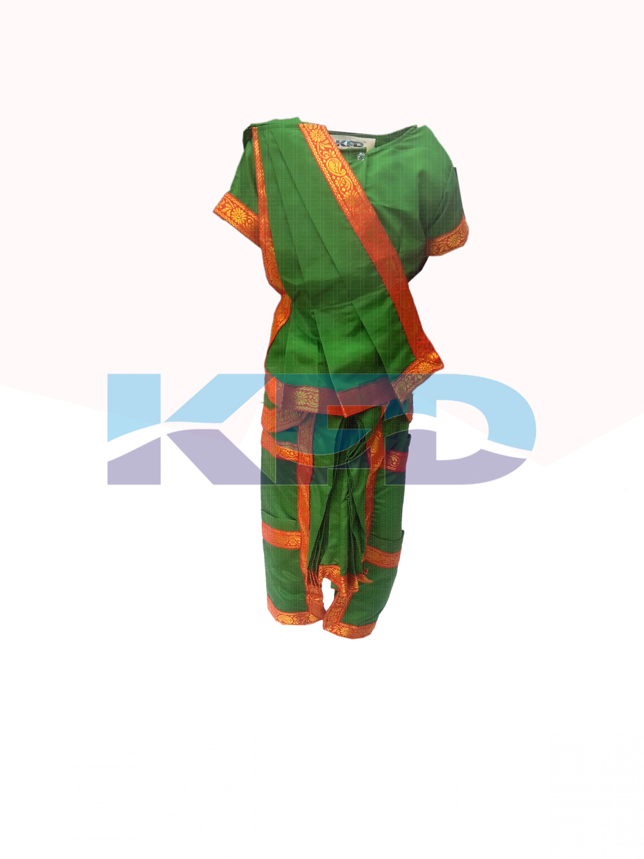Bharatnatyam green  fancy dress for kids,Indian Dance Traditional Wear for Annual function/Theme Party/Competition/Stage Shows/Birthday Party Dress