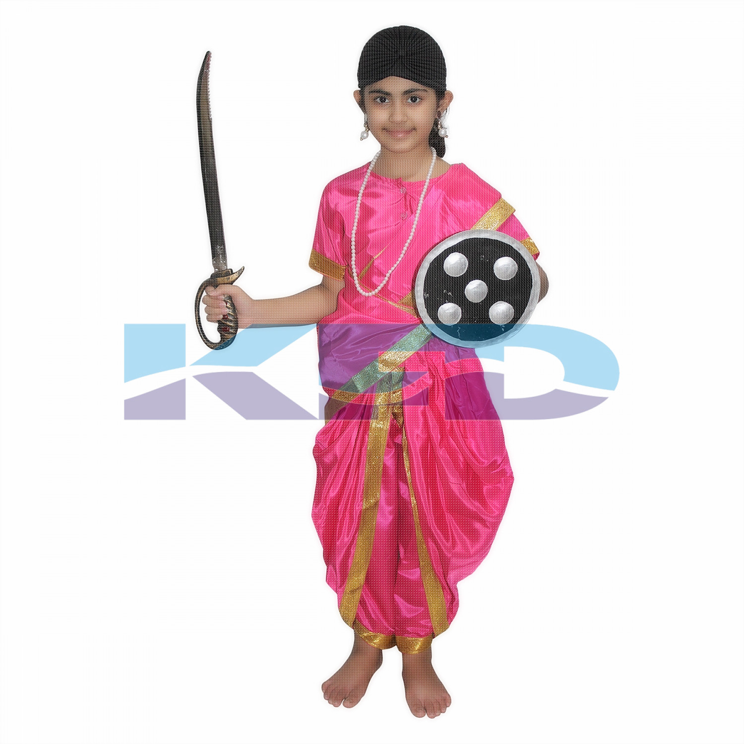 Rani Laxmi Bai Mazanta National Hero/freedom fighter Costume for Independence Day/Republic Day/Annual function/theme party/Competition/Stage Shows Dress