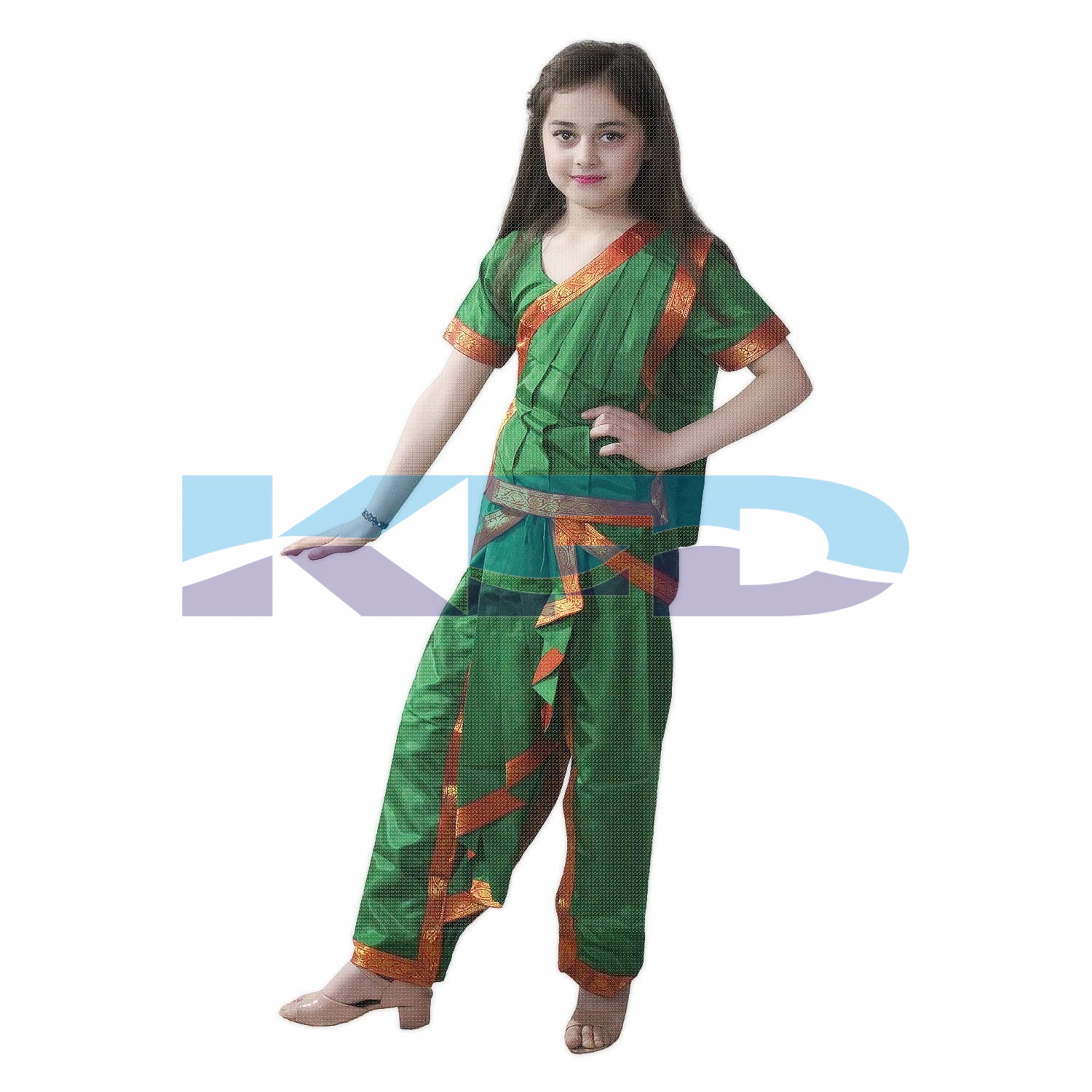 Odissi fancy dress for kids,Indian Dance Traditional Wear for Annual function/Theme Party/Competition/Stage Shows/Birthday Party Dress