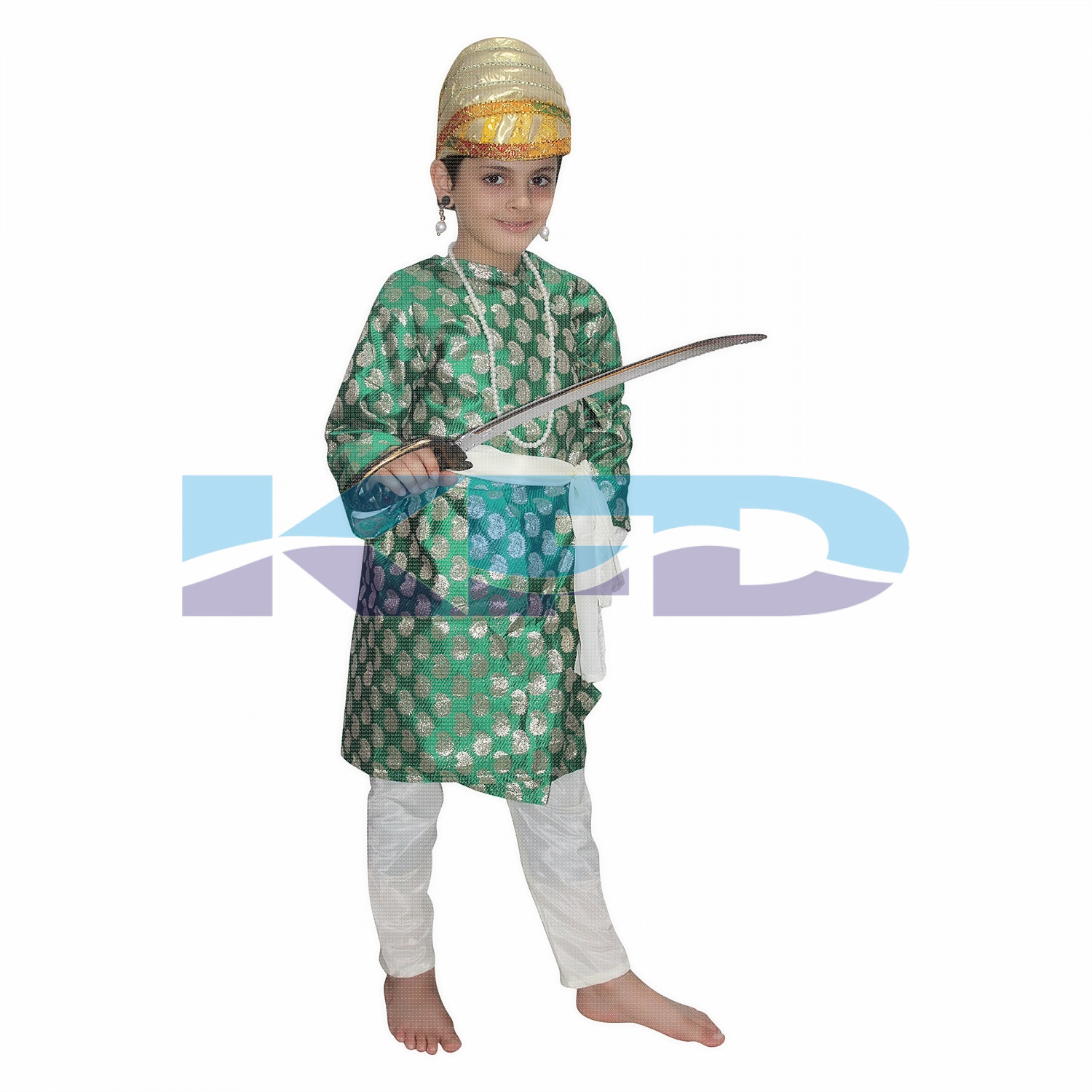 Shiva Ji Green National Hero Costume for School Annual function/Theme Party/Competition/Stage Shows/Birthday Party Dress