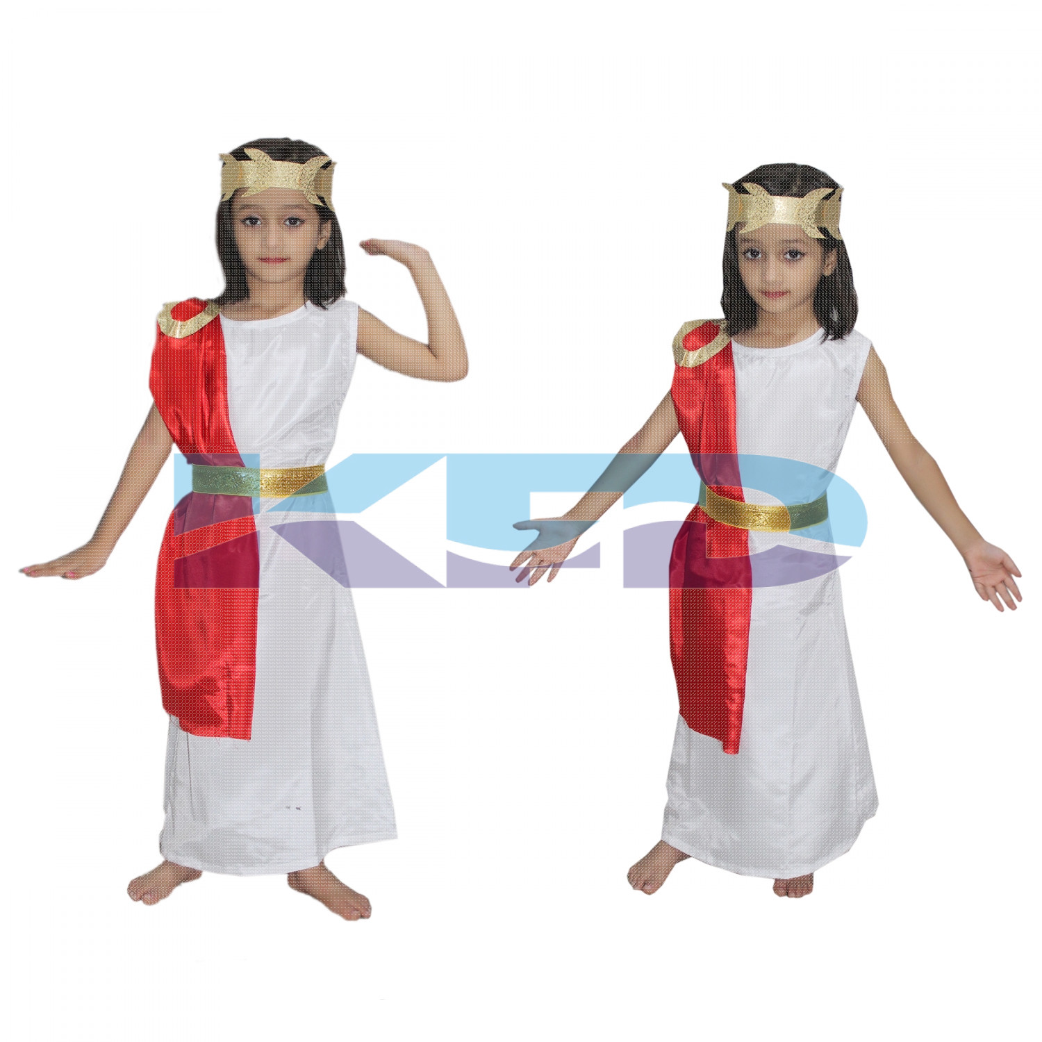Egyptian Queen Cleopatra Costume Of International Traditional Wear For School Annual function/Theme Party/Competition/Stage Shows/Birthday Party Dress
