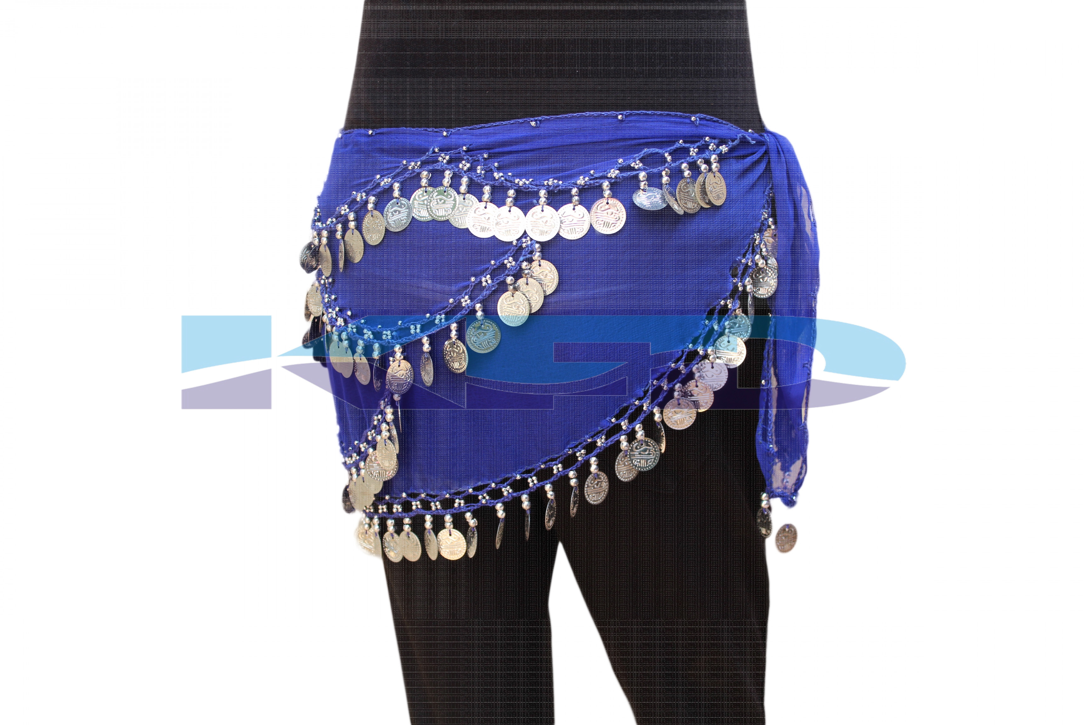 Belly Belt Blue Silver Gola