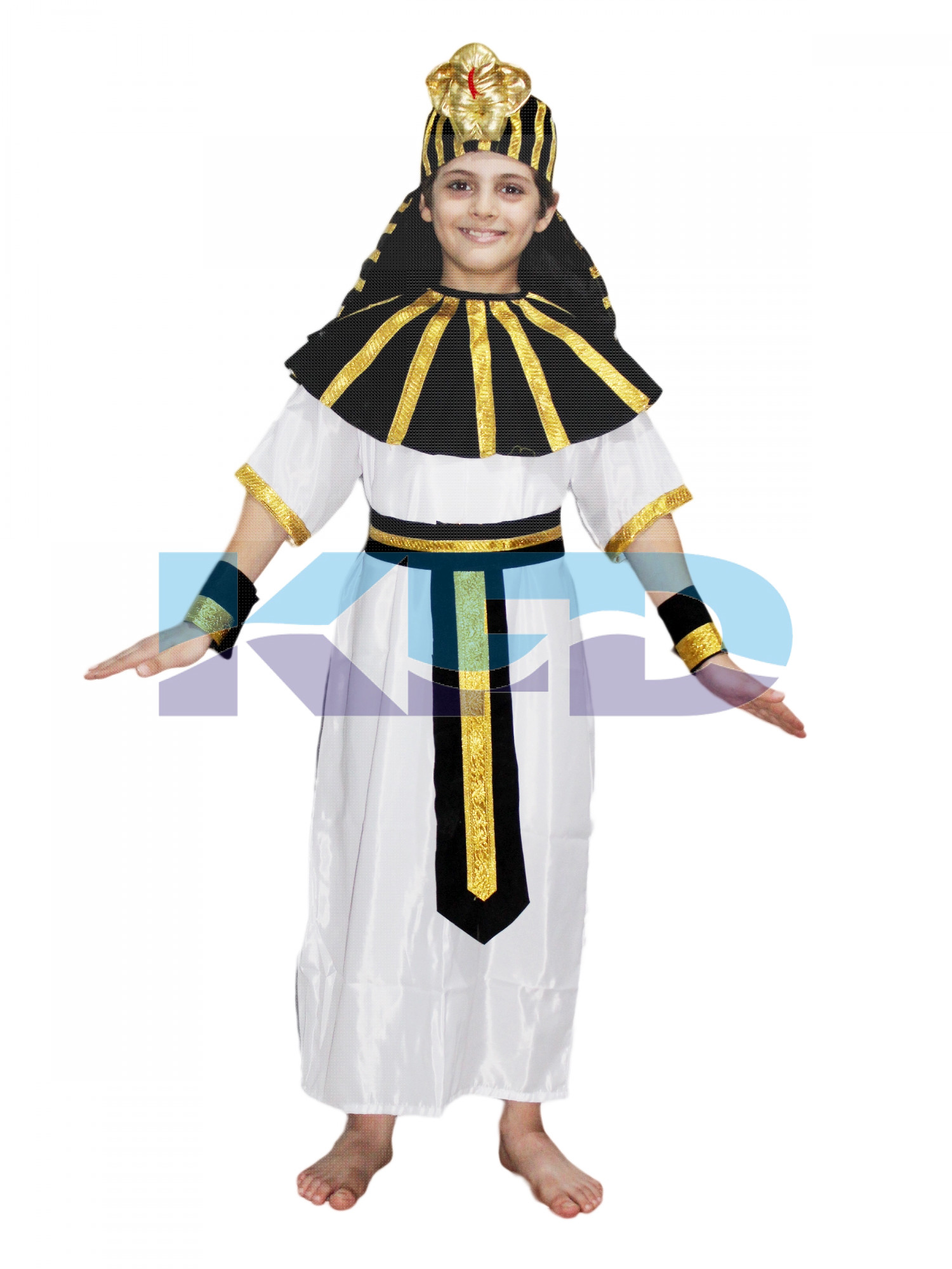 Egyptian God Black/Greek God Costume Of International Traditional Wear For Kids School Annual function/Theme Party/Competition/Stage Shows/Birthday Party Dress