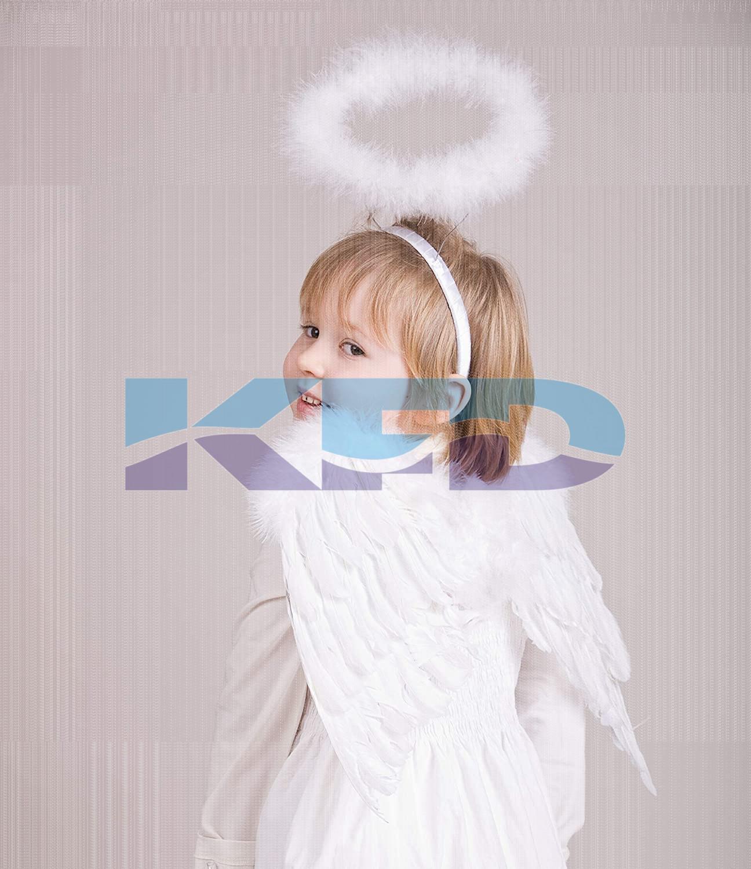 Angel Halo Headband White/Angel Feather Halo with Headband