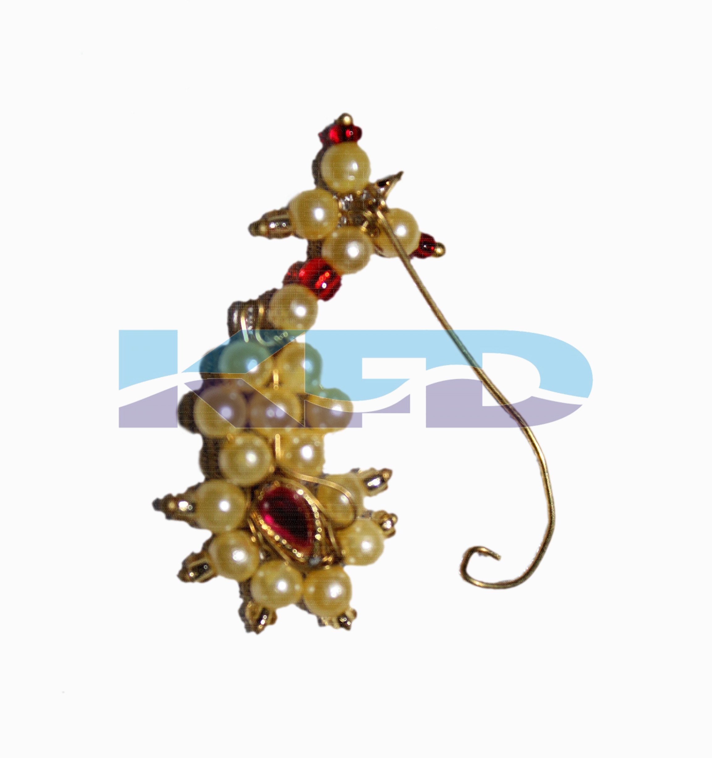 Marathi Nose Pin/Maharashtrian Jewellery/Traditional Jewellery/Typical Jewellery/For Kids Annual function/Theme Party/Competition/Stage Shows/Birthday Party Dress