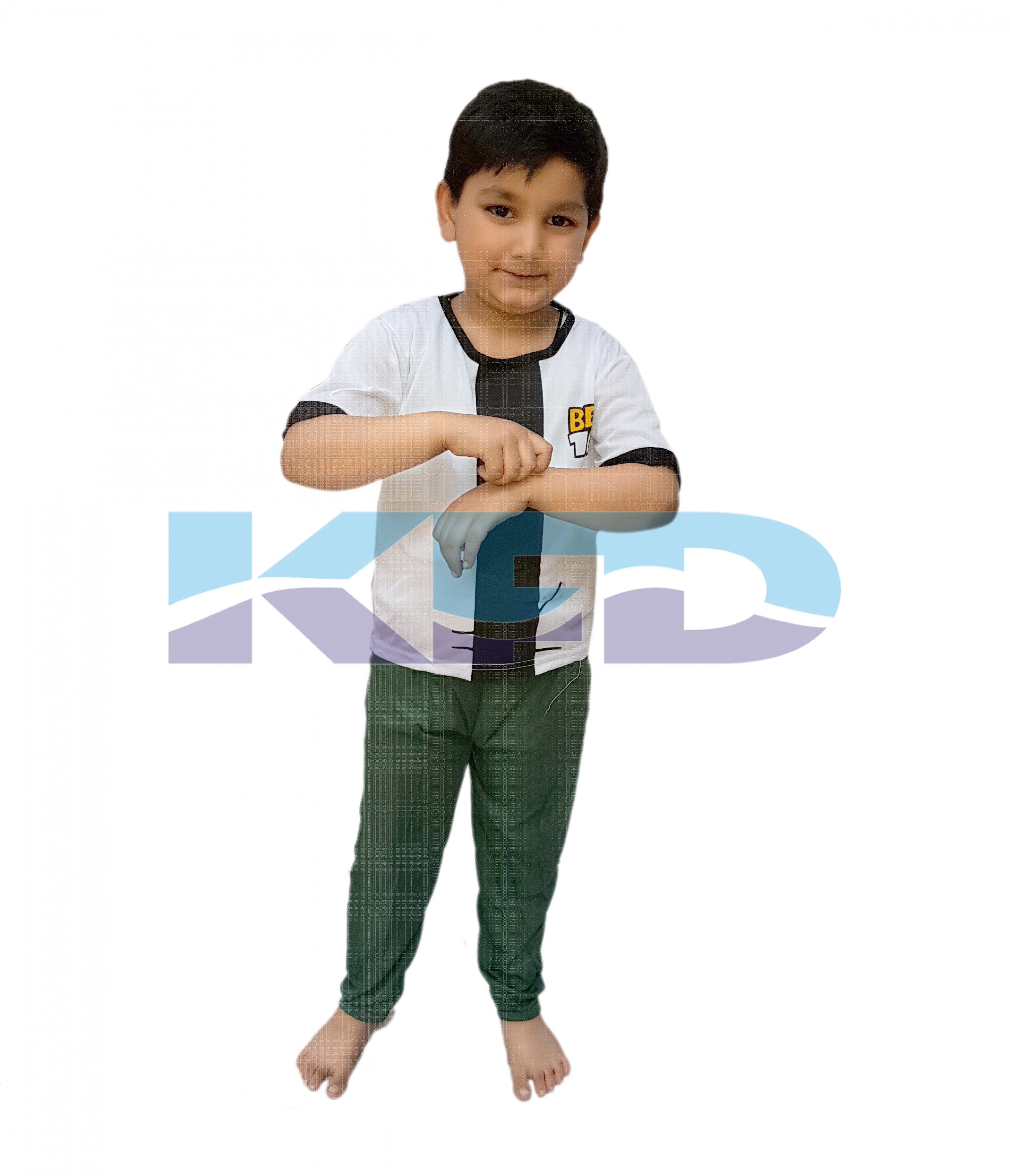 Ben 10 White Fancy dress for kids,Super Hero Costume for Annual function/Theme Party/Stage Shows/Competition/Birthday Party Dress