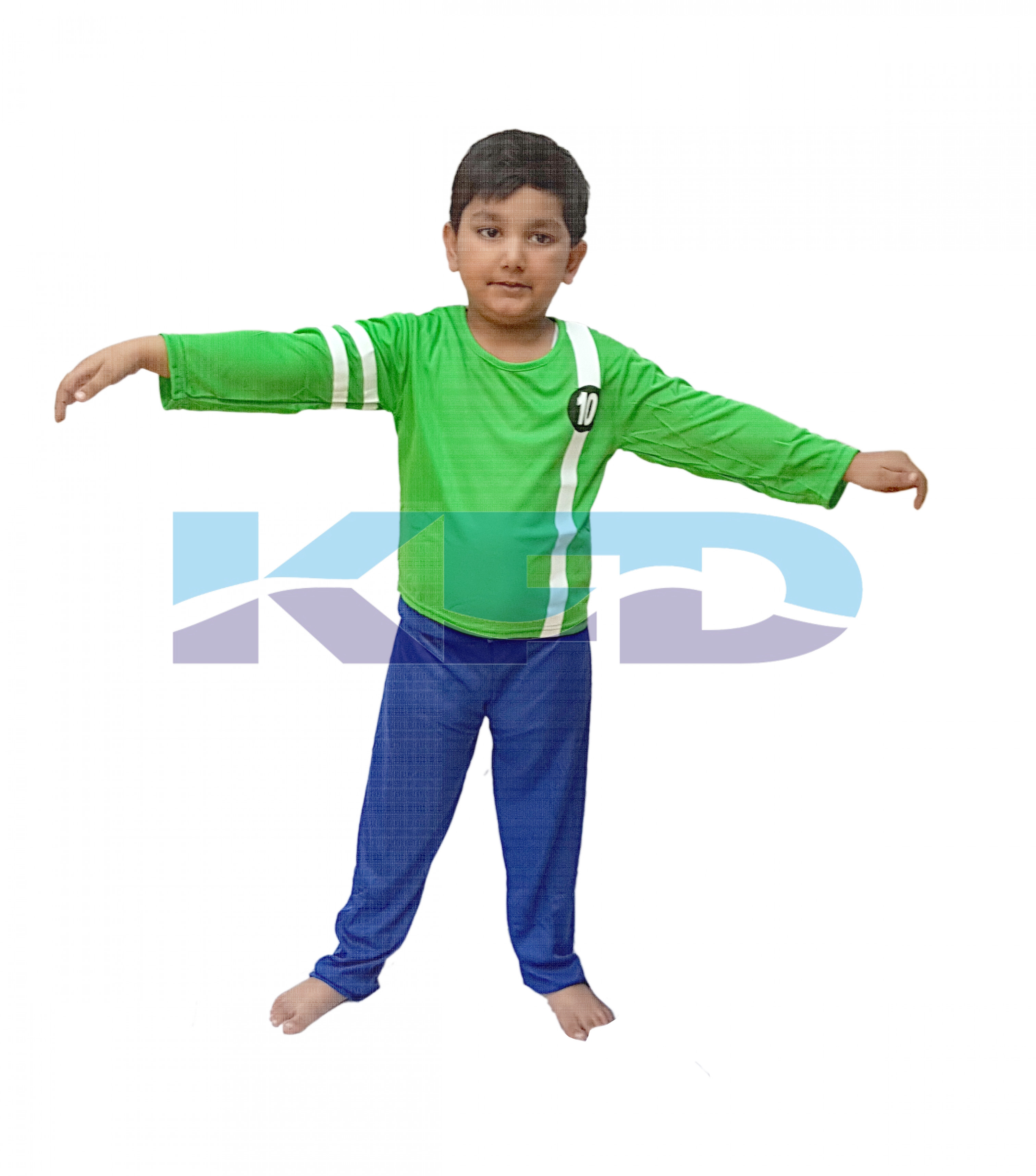 Ben 10 Green Fancy dress for kids,Super Hero Costume for Annual function/Theme Party/Stage Shows/Competition/Birthday Party Dress