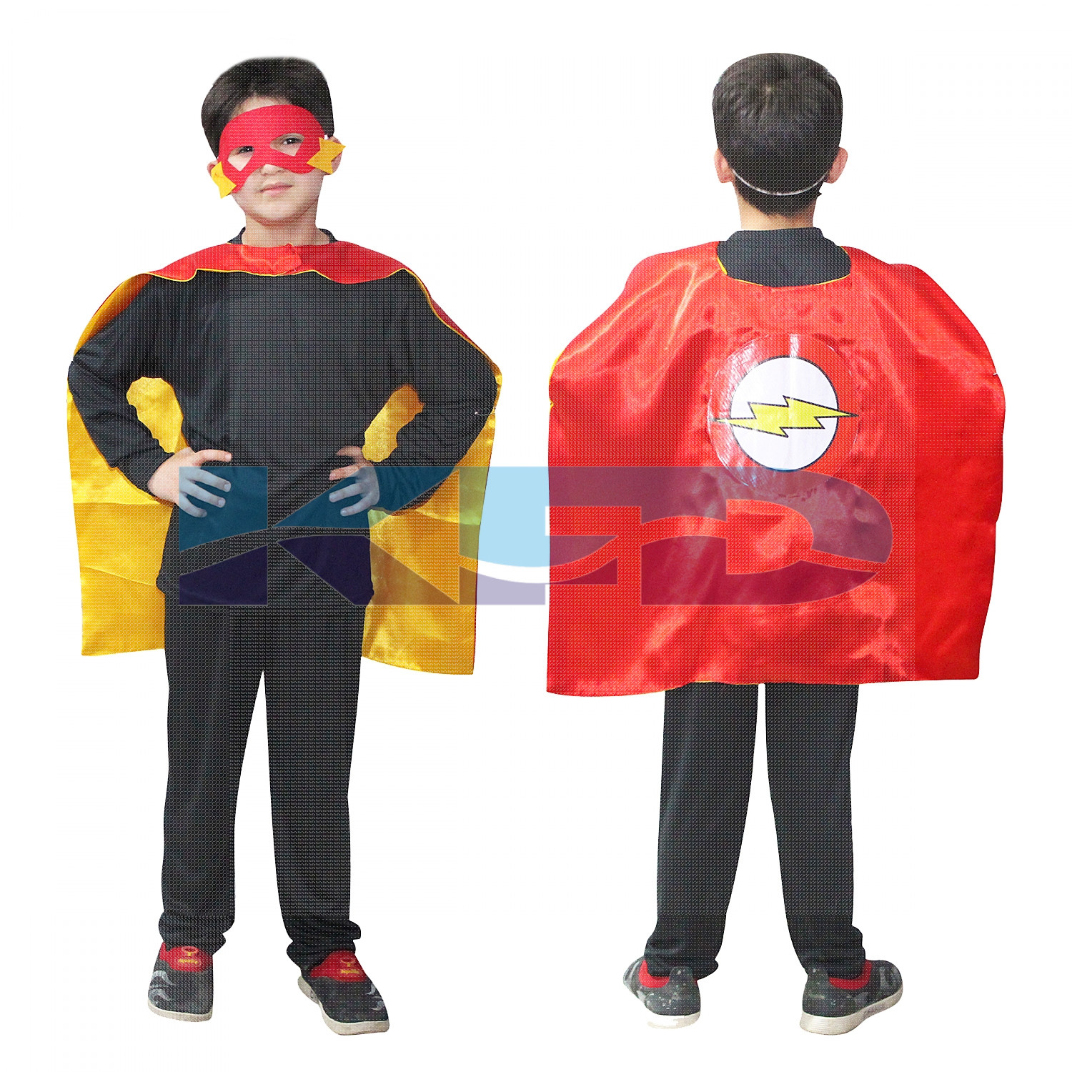 Flash Robe For Kids/California Costume For kids/Superhero Robe For kids/For Kids Annual function/Theme Party/Competition/Stage Shows/Birthday Party Dress