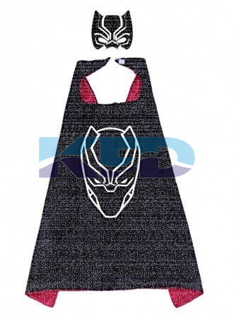 Black Panther Robe For Kids/California Costume For kids/Superhero Robe For kids/For Kids Annual function/Theme Party/Competition/Stage Shows/Birthday Party Dress