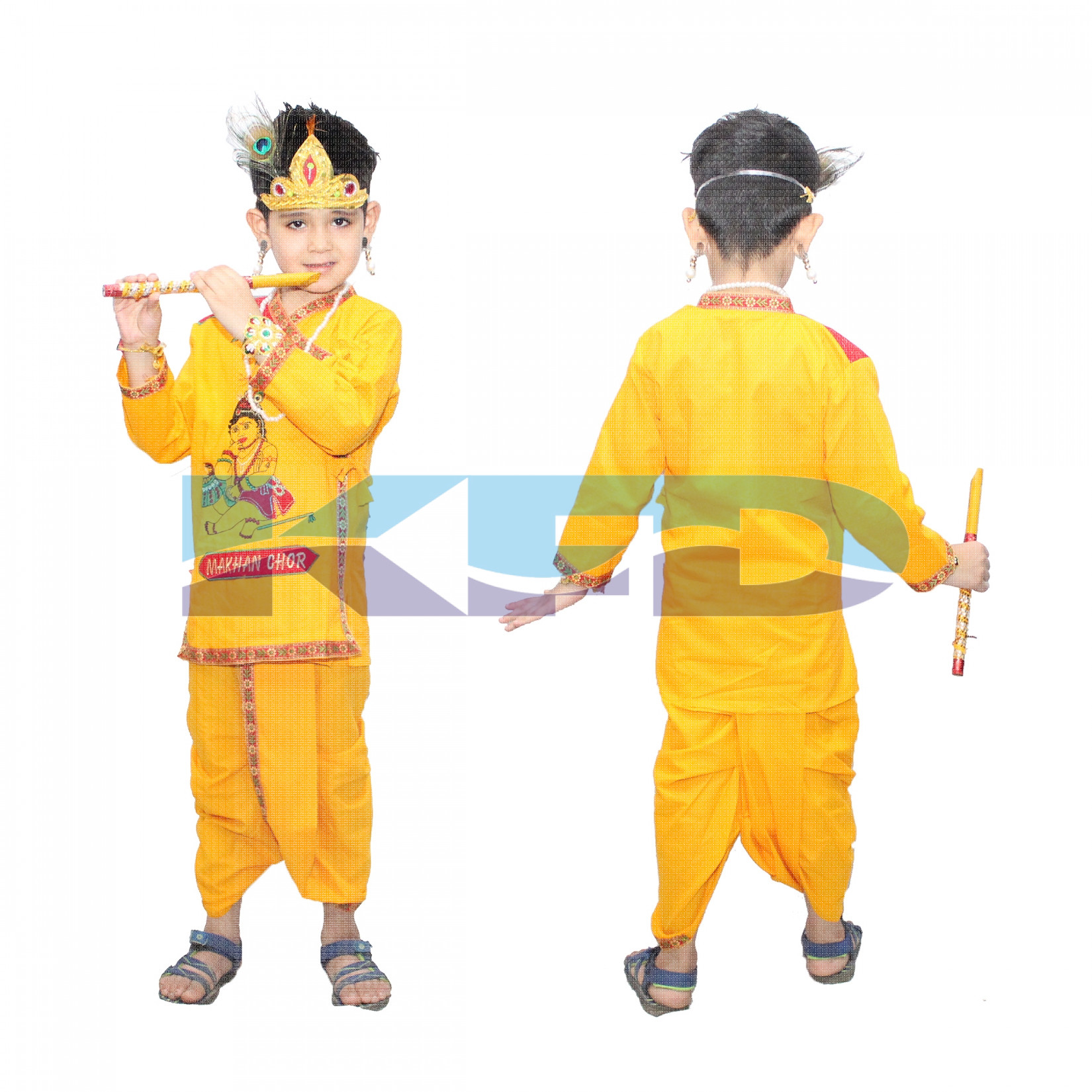 Maakhan Chor In Cotton Fabric,Krishnaleela/Janmashtami/Kanha/Mythological Character For Kids School Annual functionTtheme Party/Competition/Stage Shows Dress