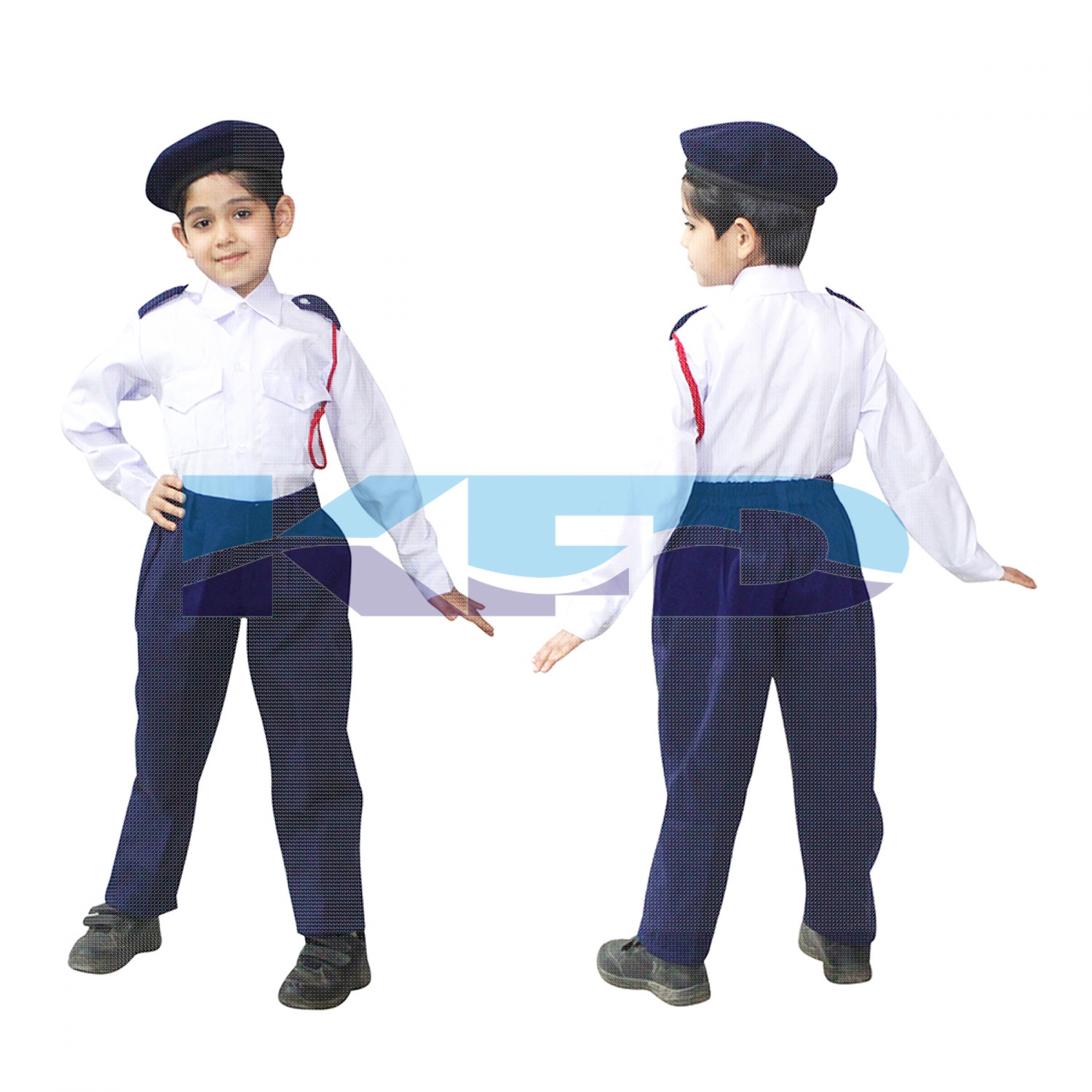 Traffic Police Our Helper Costume For Kids School Annual Function/Theme Party/Competition/Stage Shows Dress