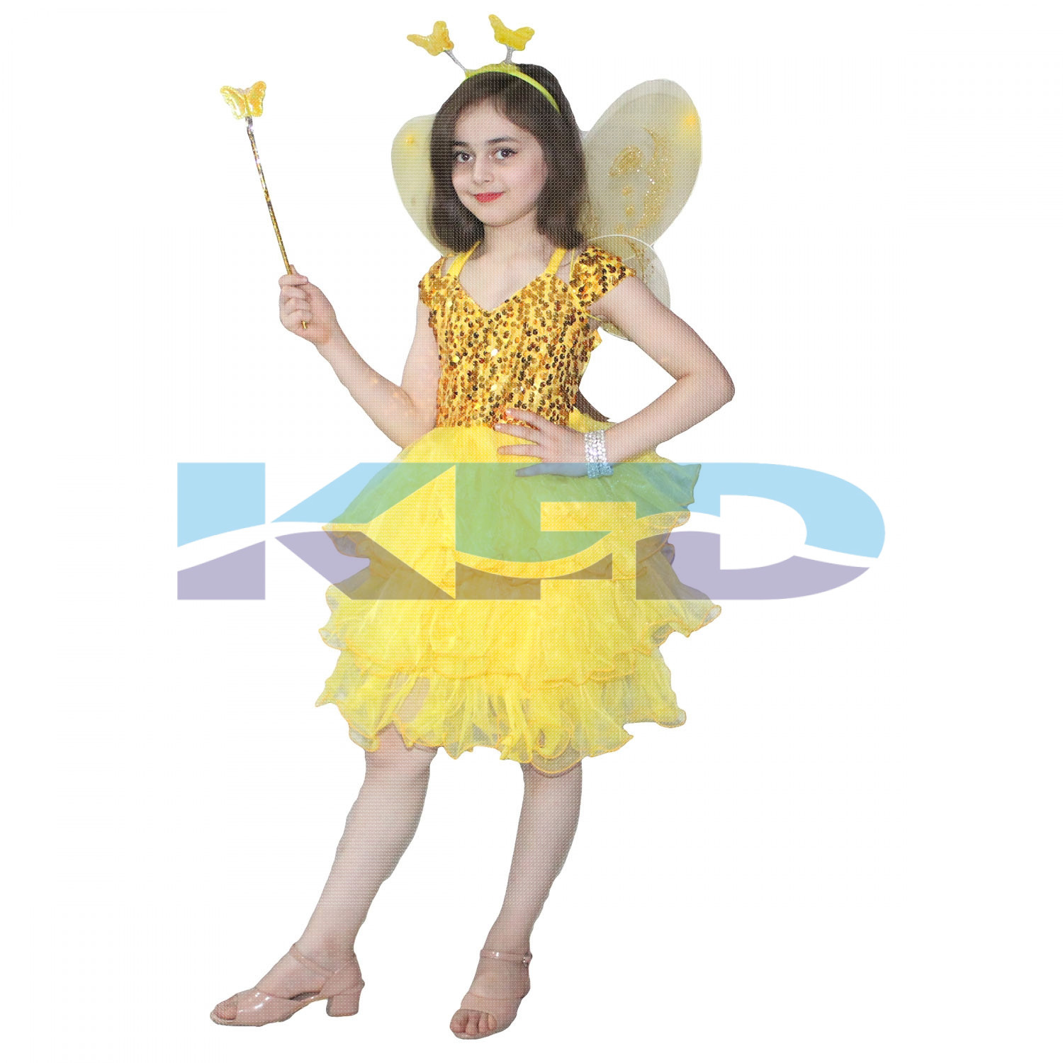 Yellow Butterfly Girl Insect Costume For Kids School Annual function/Theme Party/Competition/Stage Shows Dress