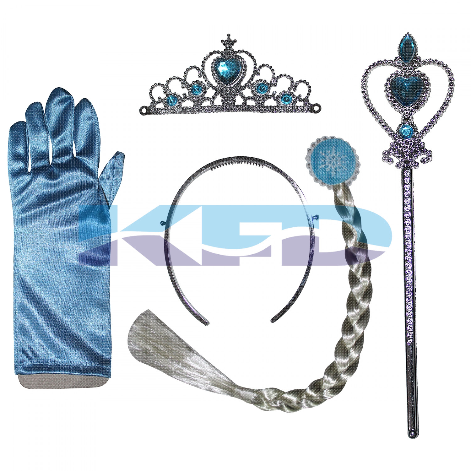 Princes Elsa Accessories With Gloves,western costume For School Annual function/Theme Party/Competition/Stage Shows/Birthday Party Dress