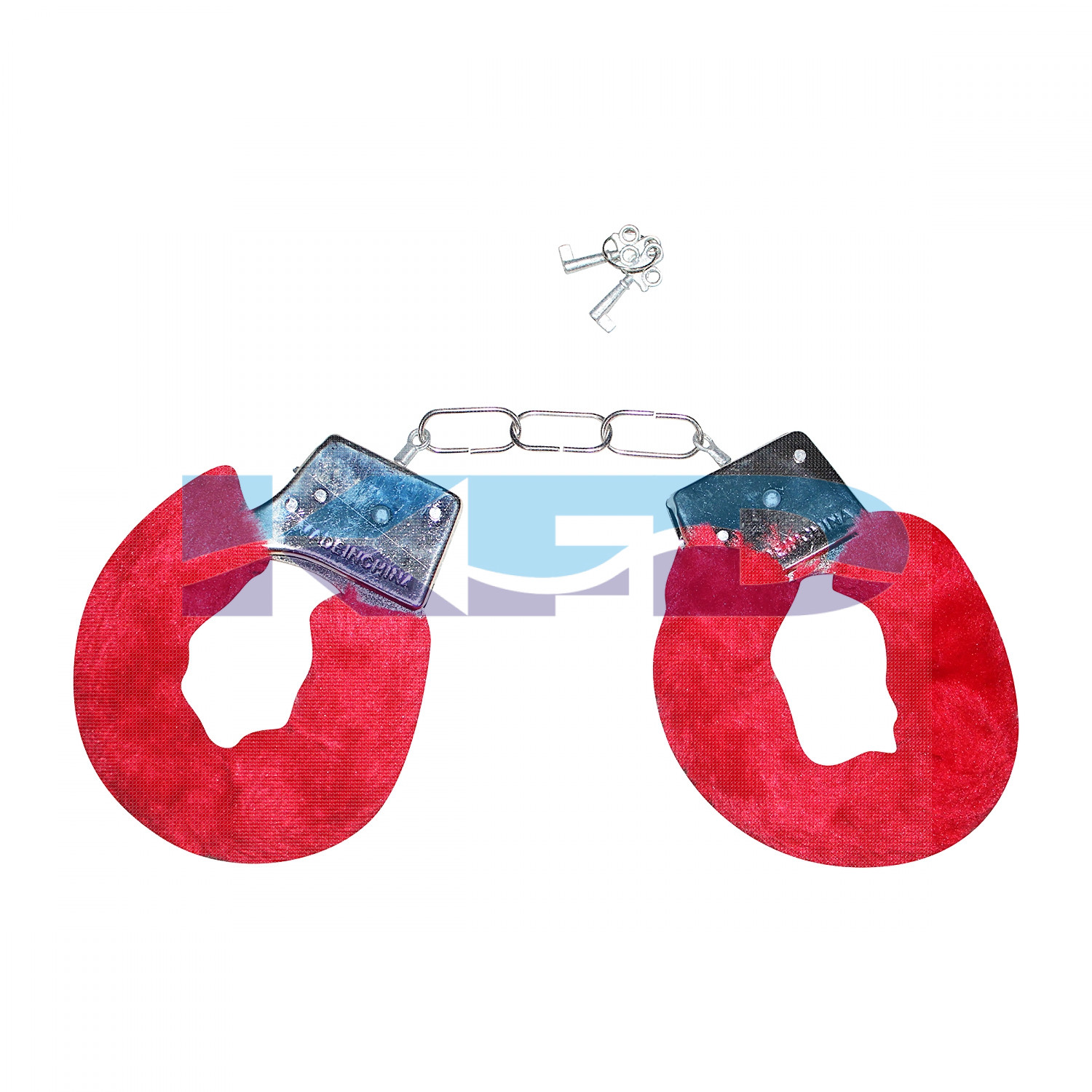 Hand Cuffs Red For Kids/Phenovo Police Cop Sheriff Officer Handcuff Toy/Police Role Play Costume Accessories Metal Handcuffs/For Kids Annual function/Theme Party/Competition/Stage Shows/Birthday Party Dress