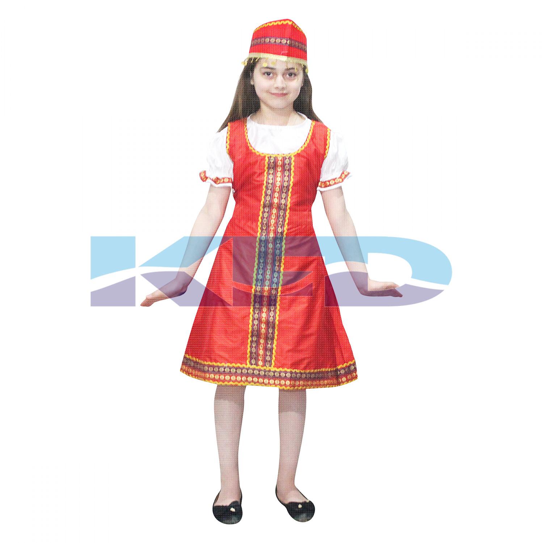 Russian Girls Fancy Dress,Russian Girls Costume,Russian Kids Costume Wear,Russian Traditional Costume Wear,Birthday Party Dress,Annual Function Dress,Theme Party Dress,Competition Dress,Stage Shows Dress