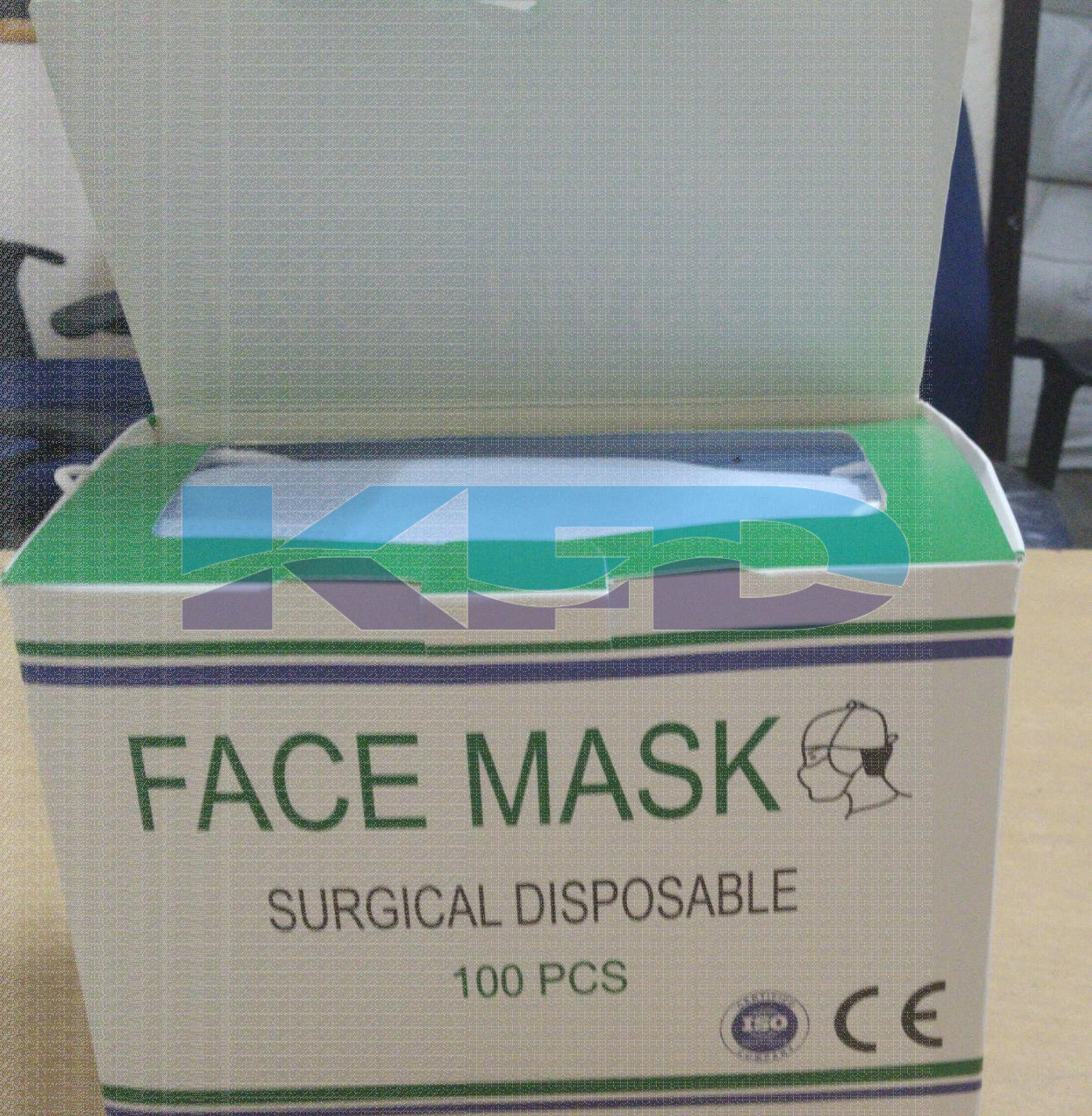 3ply Mask With Nose Pin