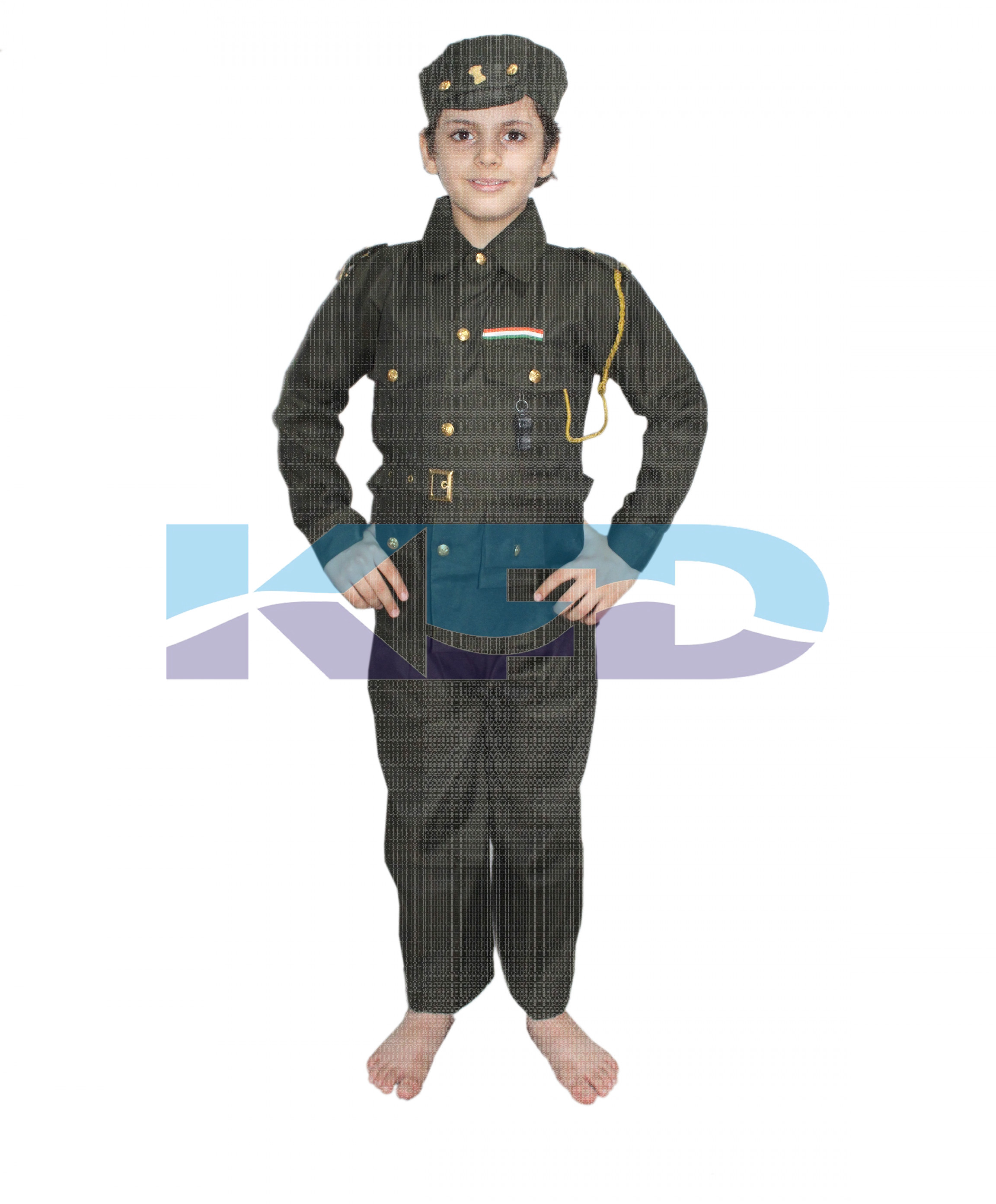 Indian Army Fancy Dress For Kids,Our Helper/National Hero Costume For Annual Function/Theme Party/Competition/Stage Shows Dress