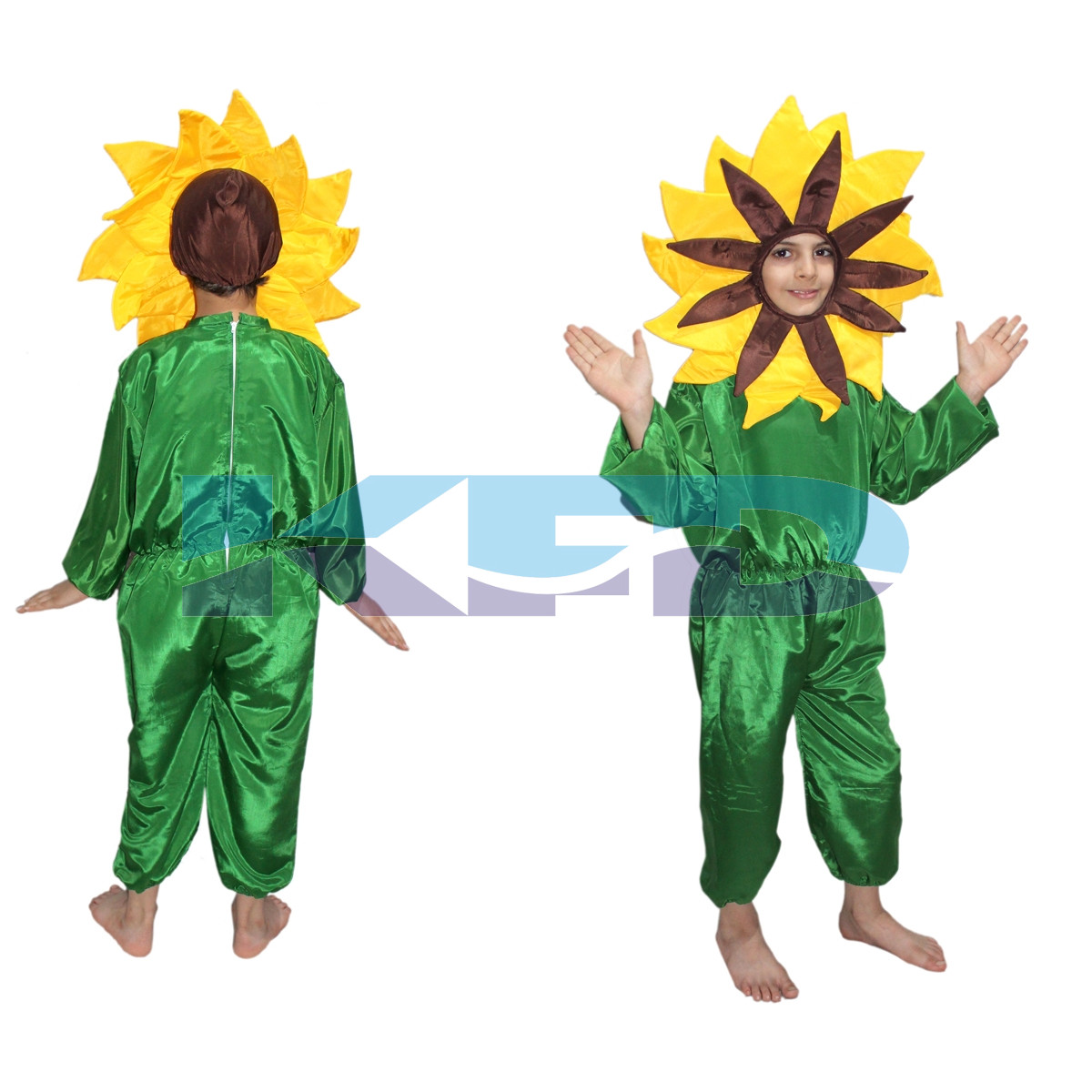 Yellow flower fancy dress for kids,Nature Costume for Annual function/Theme Party/Stage Shows/Competition/Birthday Party Dress