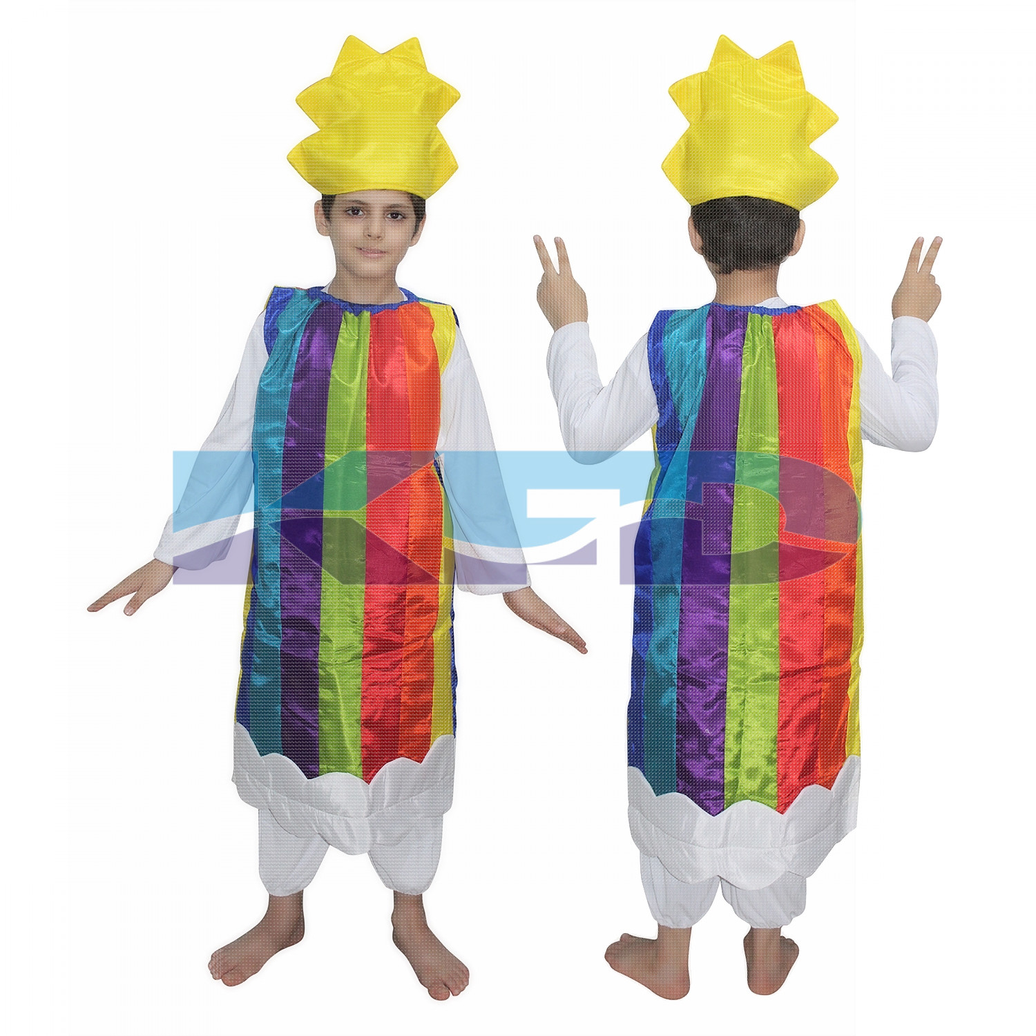Rainbow fancy dress for kids,Nature Costume for Annual function/Theme Party/Competition/Stage Shows Dress