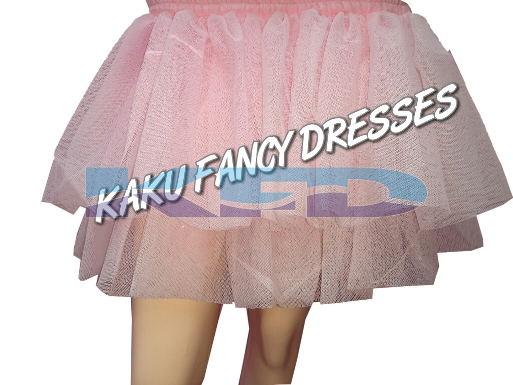 Pink Net Skirt For Girl