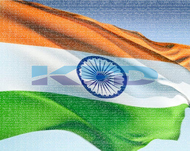 Indian flag size 20*30 2Pcs Set