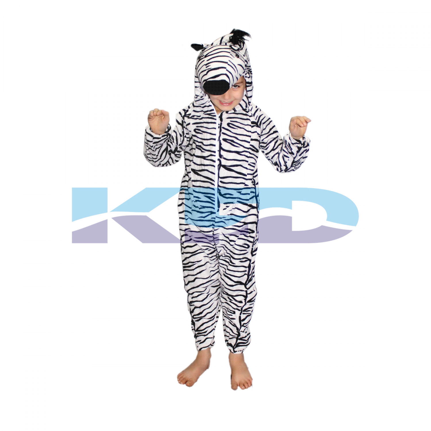 Zebra fancy dress for kids,Wild Animal Costume for Annual function/Theme Party/Competition/Stage Shows/Birthday Party Dress