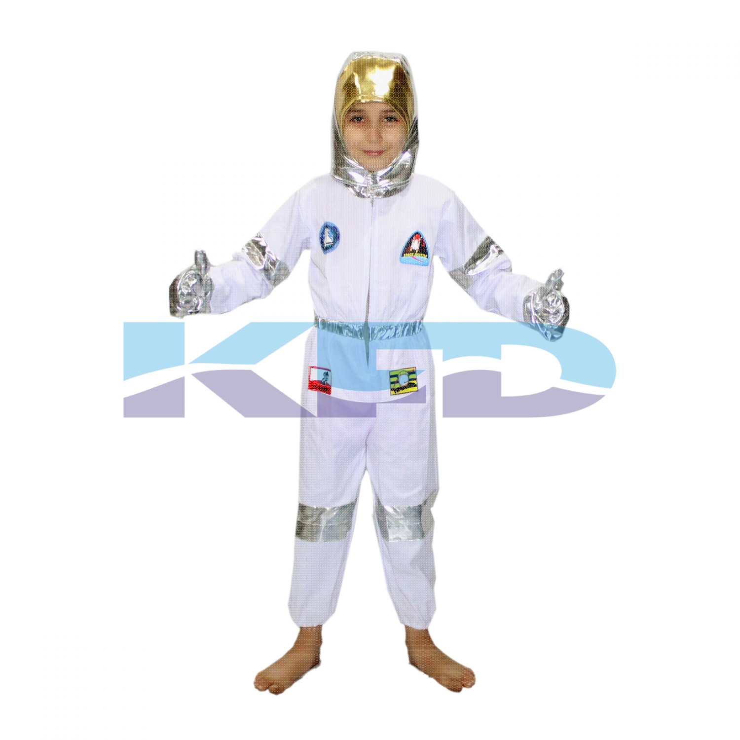 Astronaut White CosPlay Costume,Space Costume For Kids School Annual function/Theme Party/Competition/Stage Shows/Birthday Party Dress
