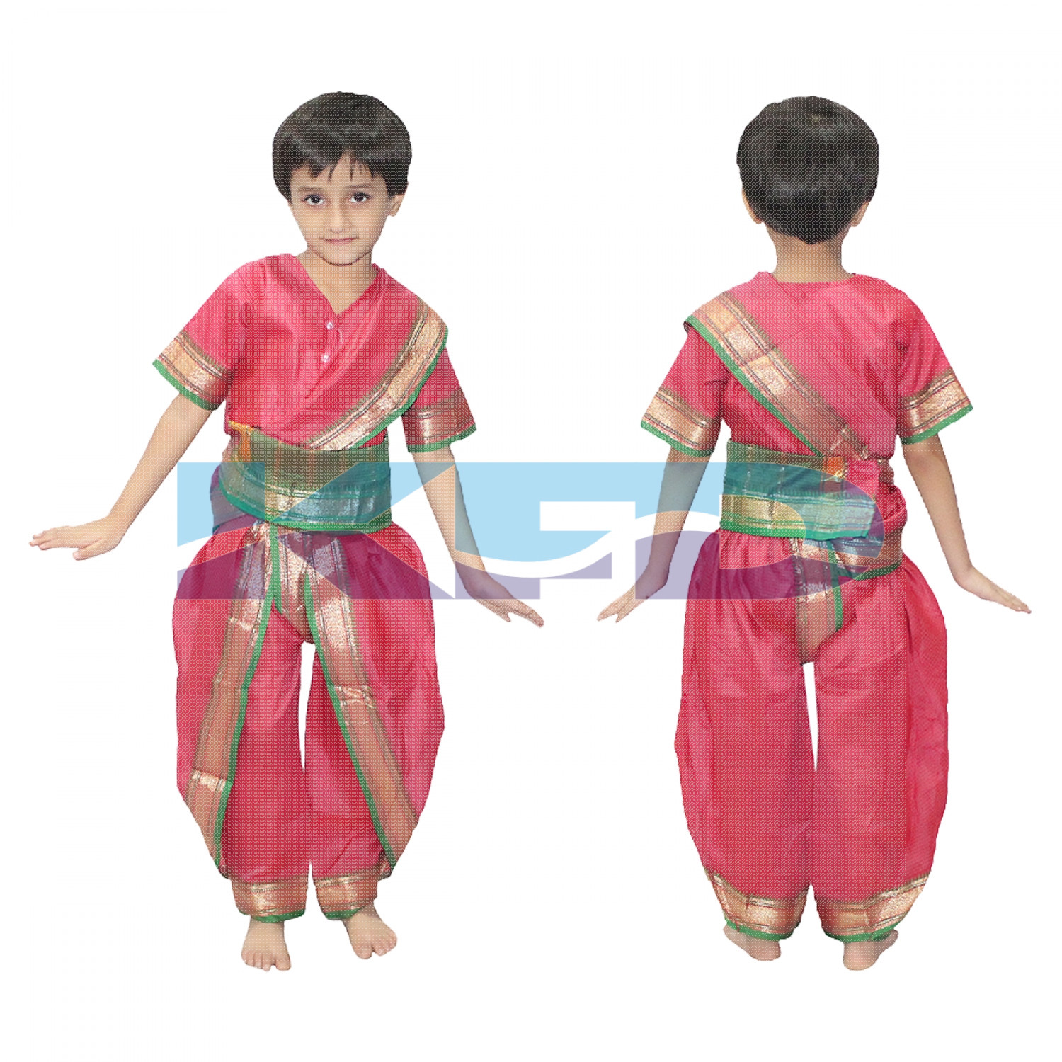 Marathi Girl fancy Dress for kids,Indian State Traditional Wear Costume for Annual function/Theme party/Competition/Stage Shows/Birthday Party Dress
