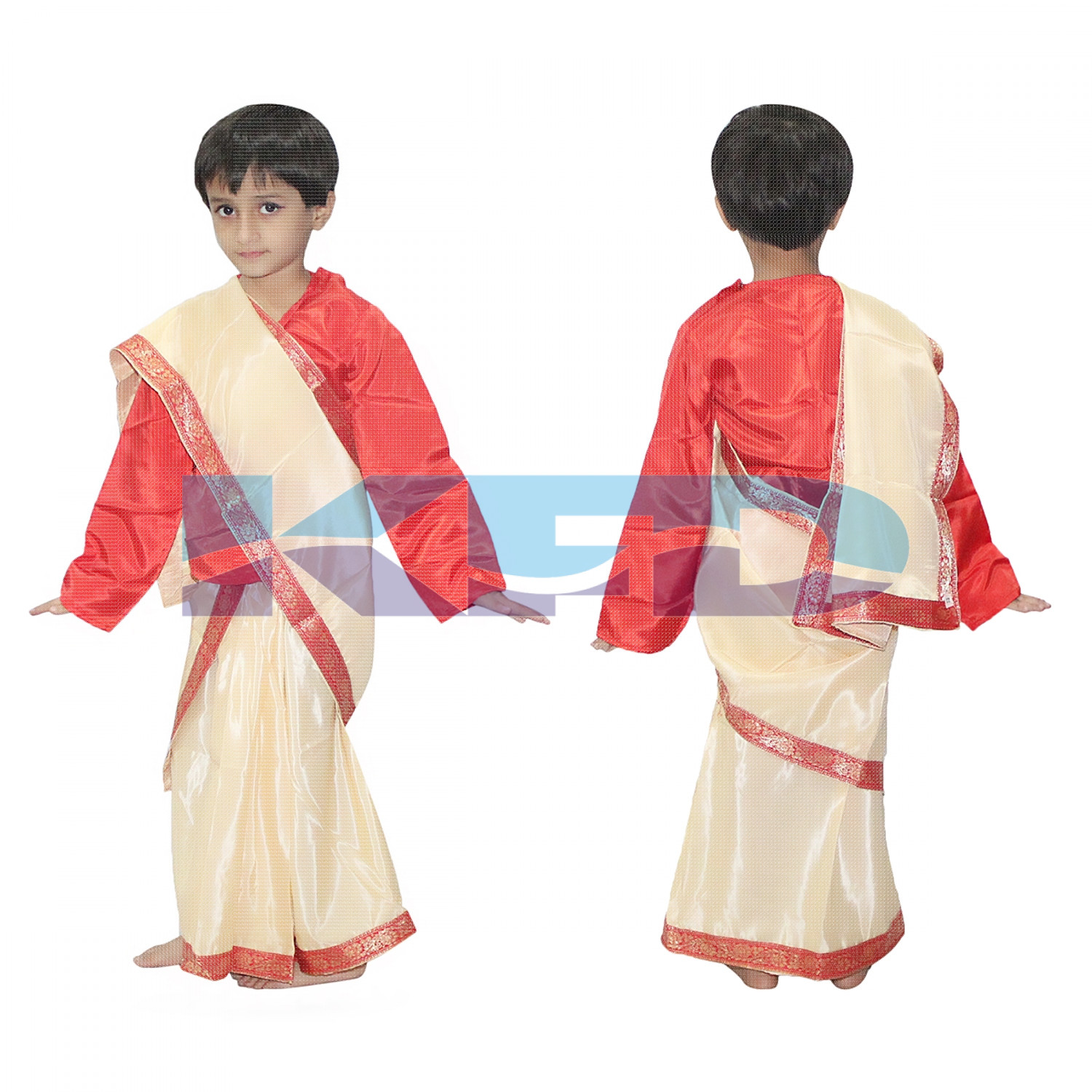 Bihu Saree Fancy dress for kids,Indian State/Dance Costume for Annual function/Theme Party/Competition/Stage Shows Dress